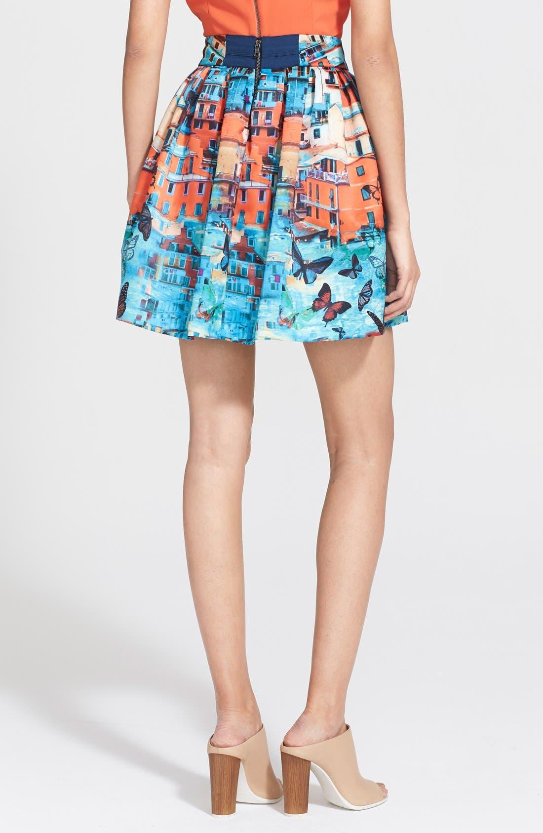 Alternate Image 2  - Alice + Olivia 'Stora' Print Pouf Skirt