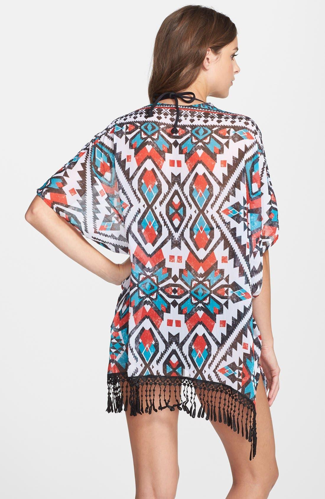 Alternate Image 2  - Becca Print Kimono Cover-Up
