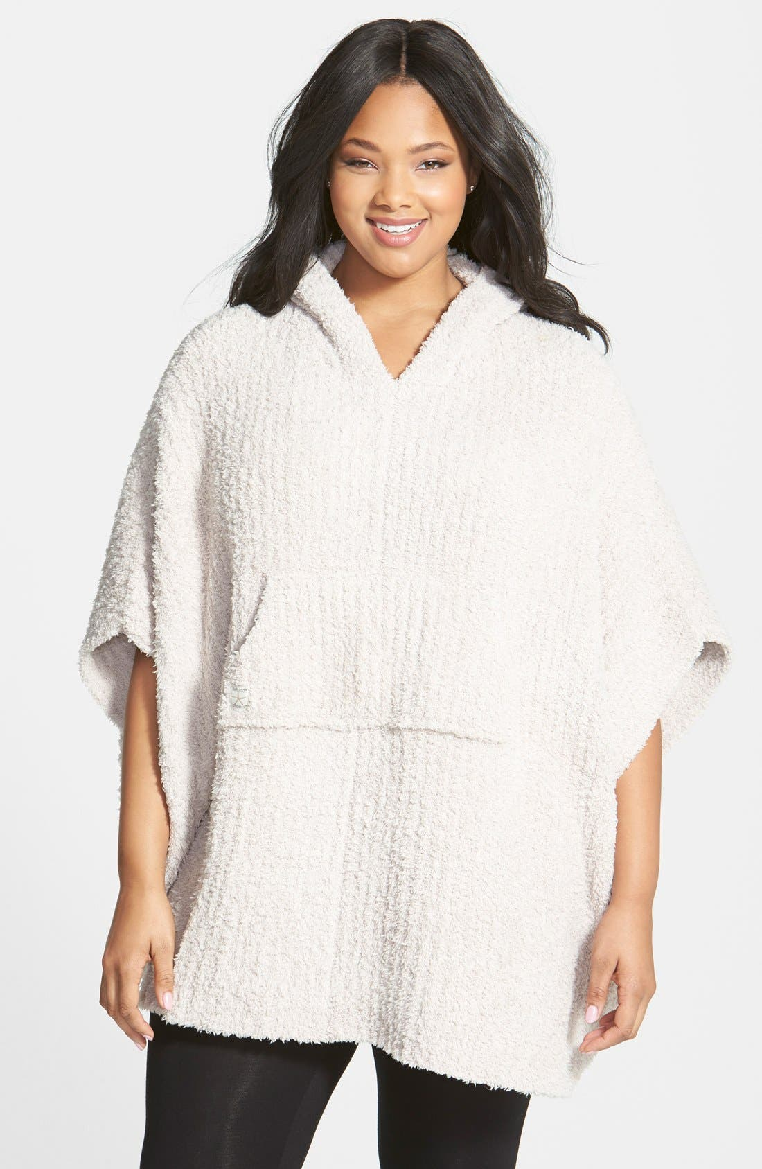 Barefoot Dreams® CozyChic® Ribbed Hooded Poncho (Plus Size)