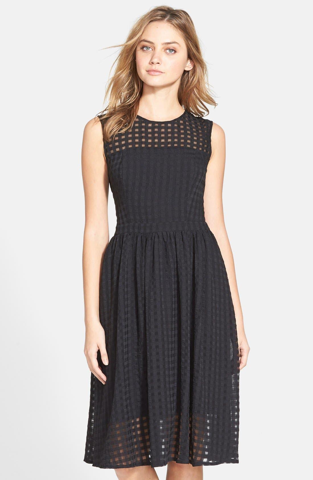Main Image - Donna Morgan Chiffon Fit & Flare Dress