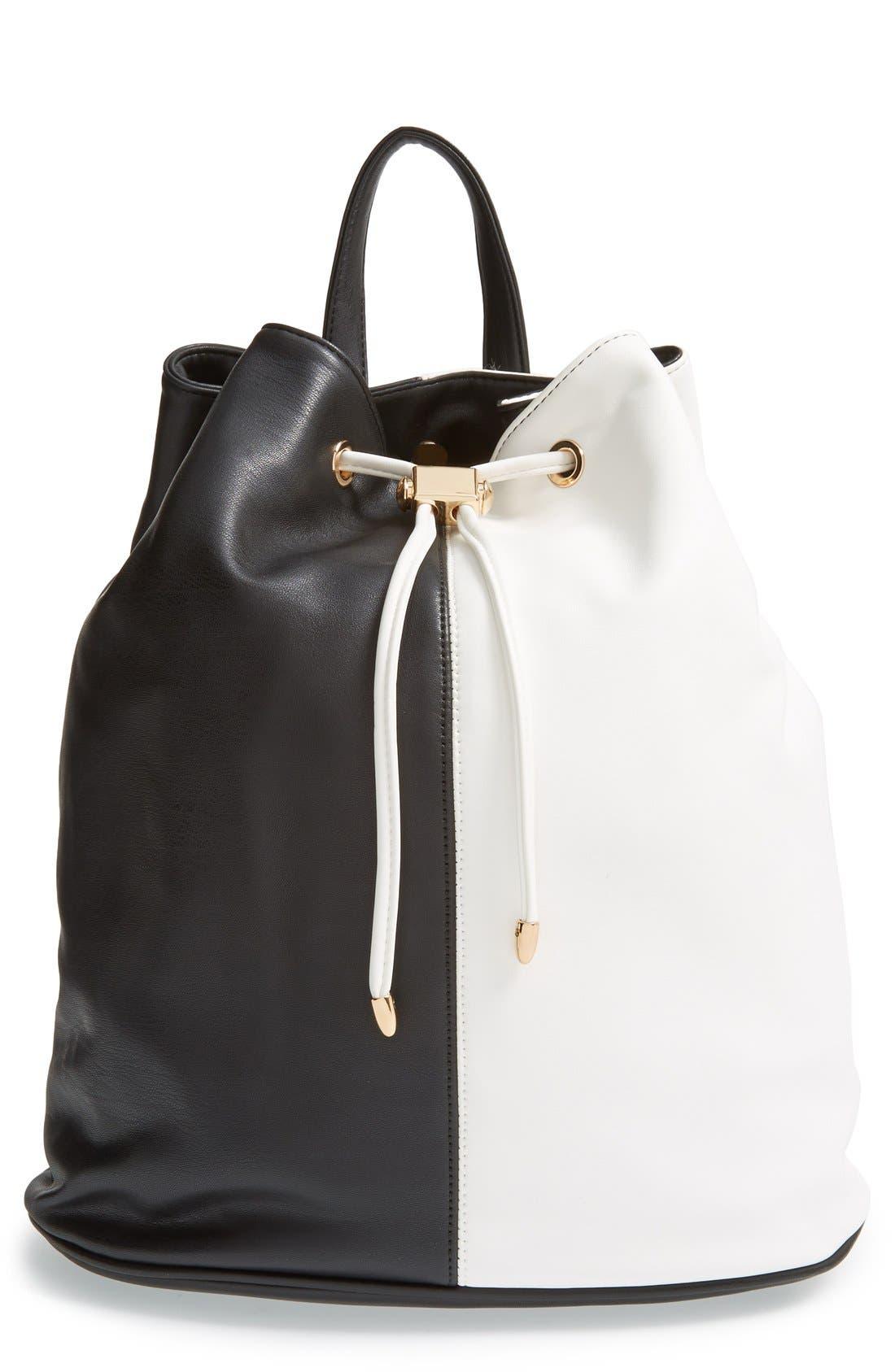Main Image - Deux Lux 'Mod' Colorblock Faux Leather Backpack
