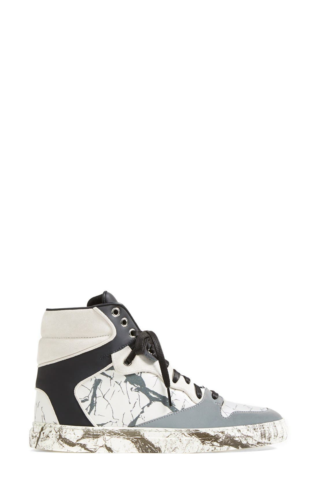Alternate Image 4  - Balenciaga Nappa Leather High Top Sneaker (Women)
