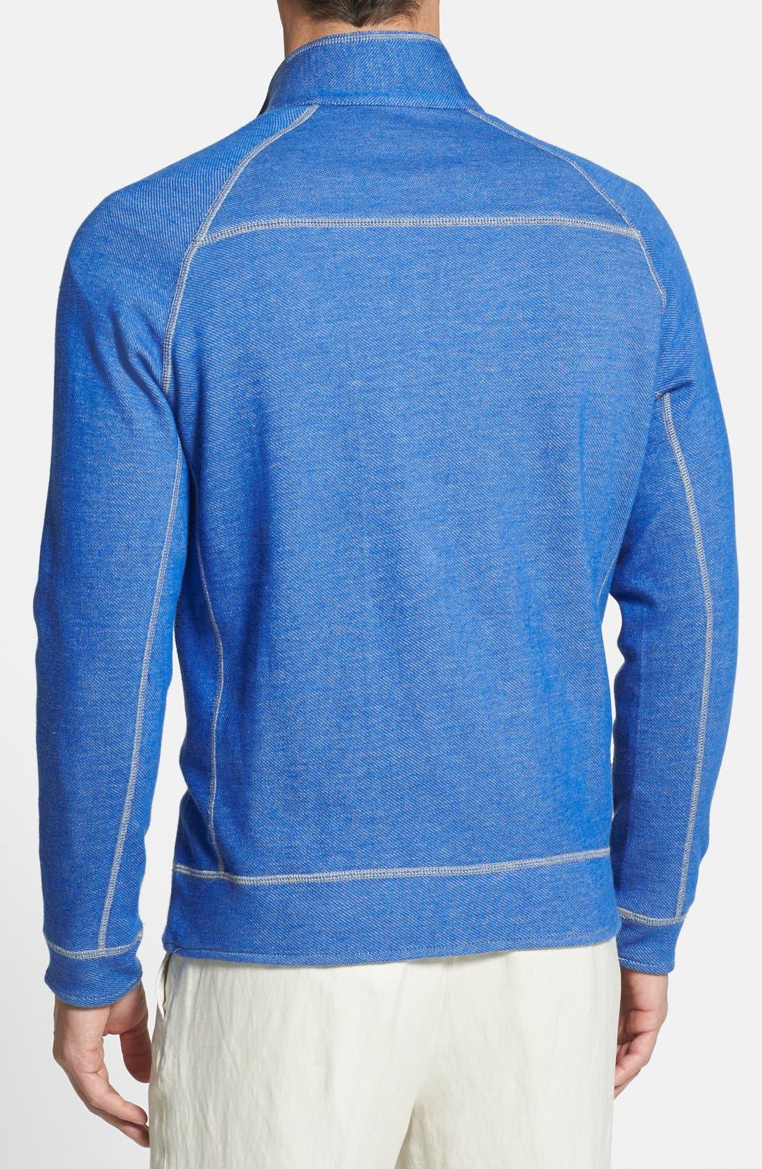 Alternate Image 2  - Tommy Bahama Denim 'Bob Twillin' Island Modern Fit Reversible Half Zip Sweatshirt