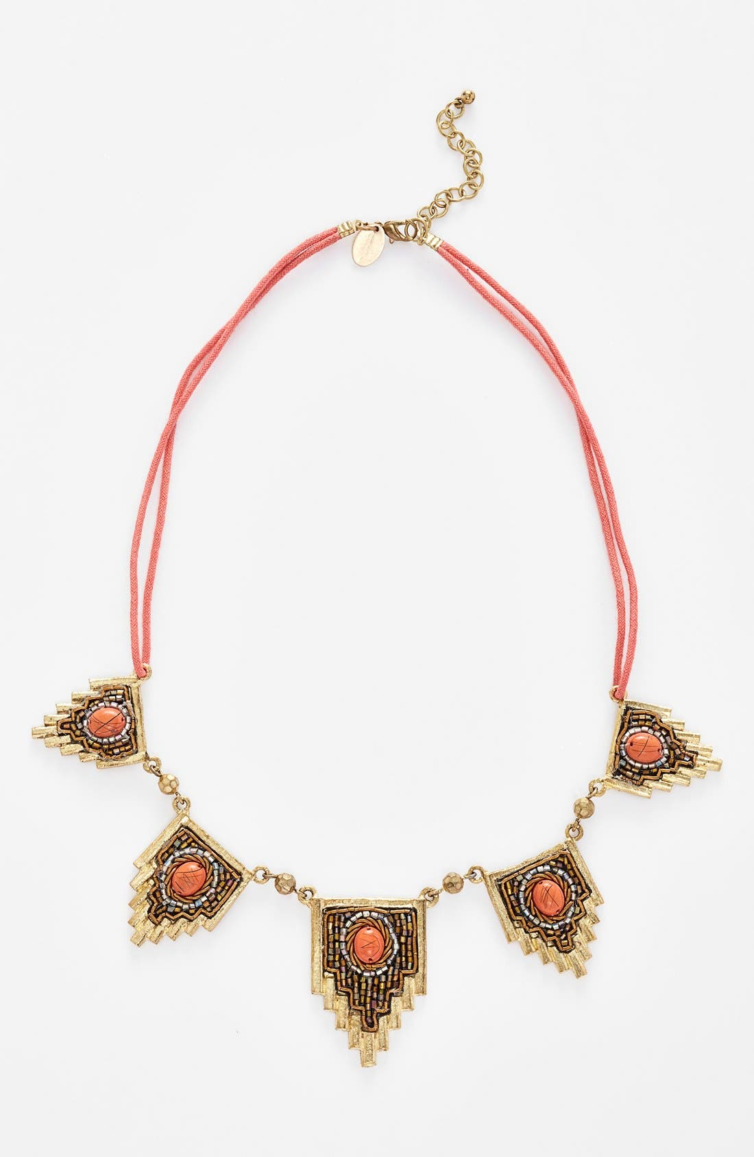 Main Image - Berry 'Egyptian' Beaded Statement Necklace
