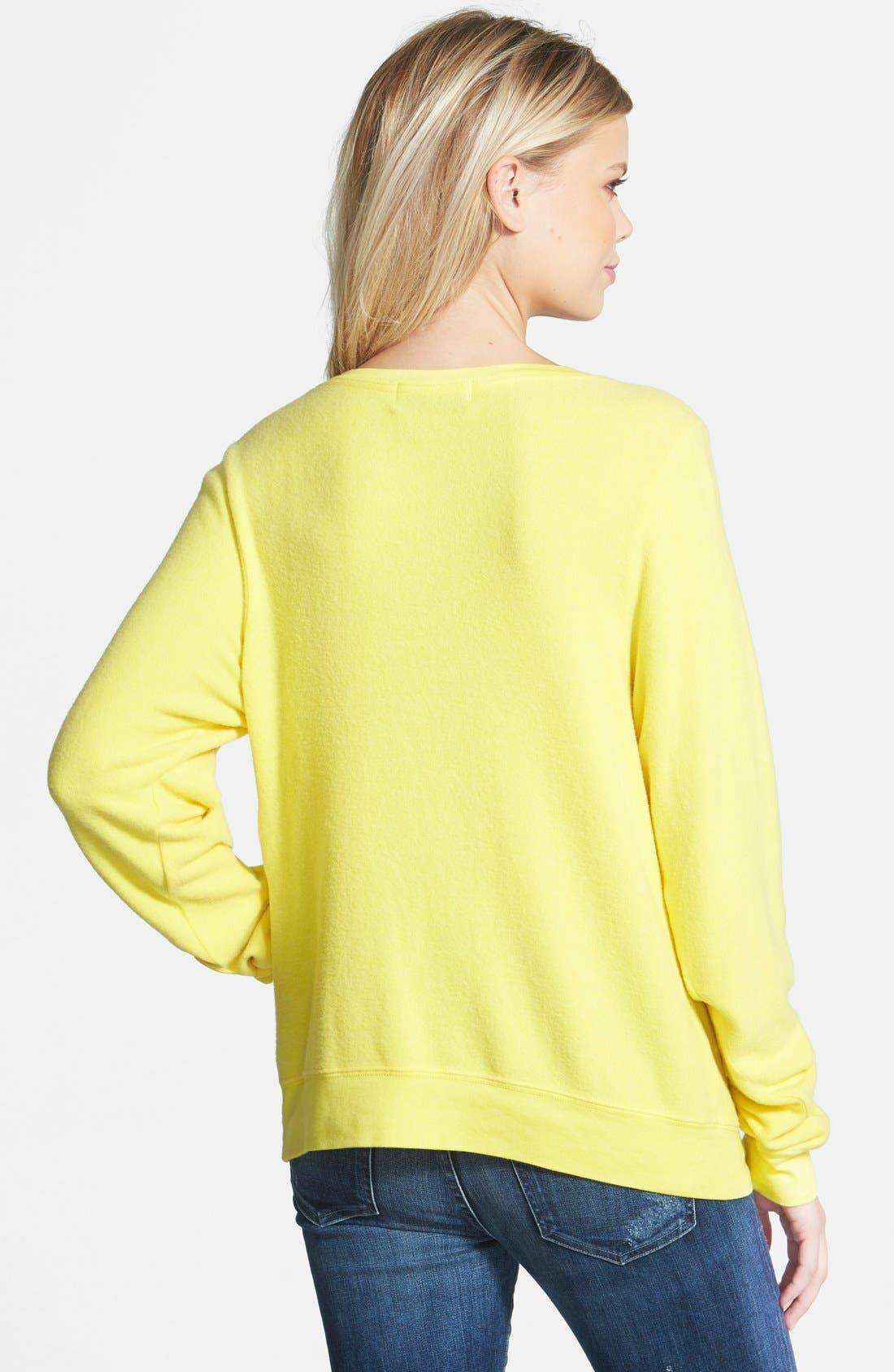 Alternate Image 2  - Wildfox 'Somewhere Sunny' Sweatshirt