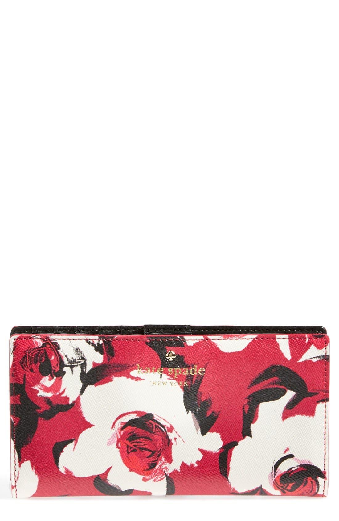 Alternate Image 1 Selected - kate spade new york 'cedar street rose - stacy' wallet