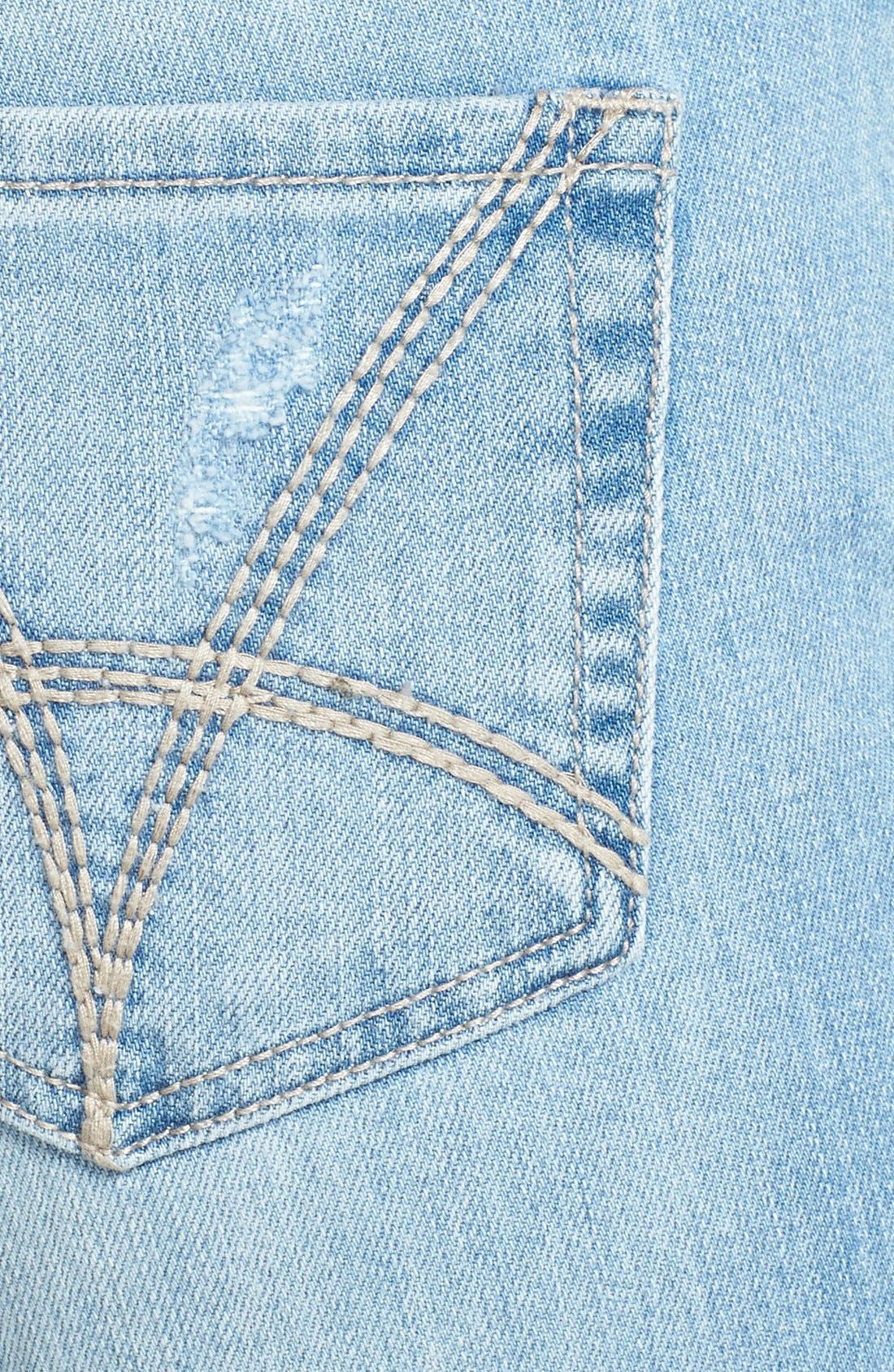 Alternate Image 3  - KUT from the Kloth 'Adele' Distressed Crop Boyfriend Jeans (Slick)