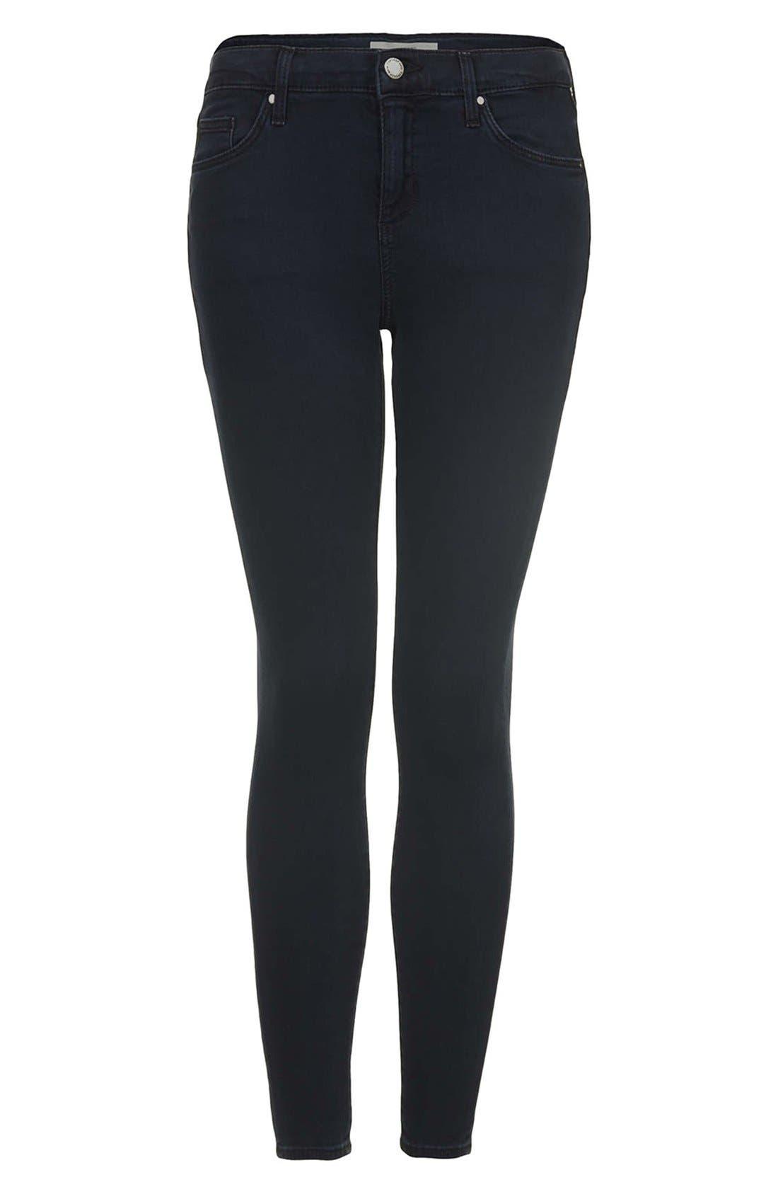 Alternate Image 3  - Topshop Moto 'Leigh' Crop Skinny Jeans (Blue Black) (Regular, Short & Long)