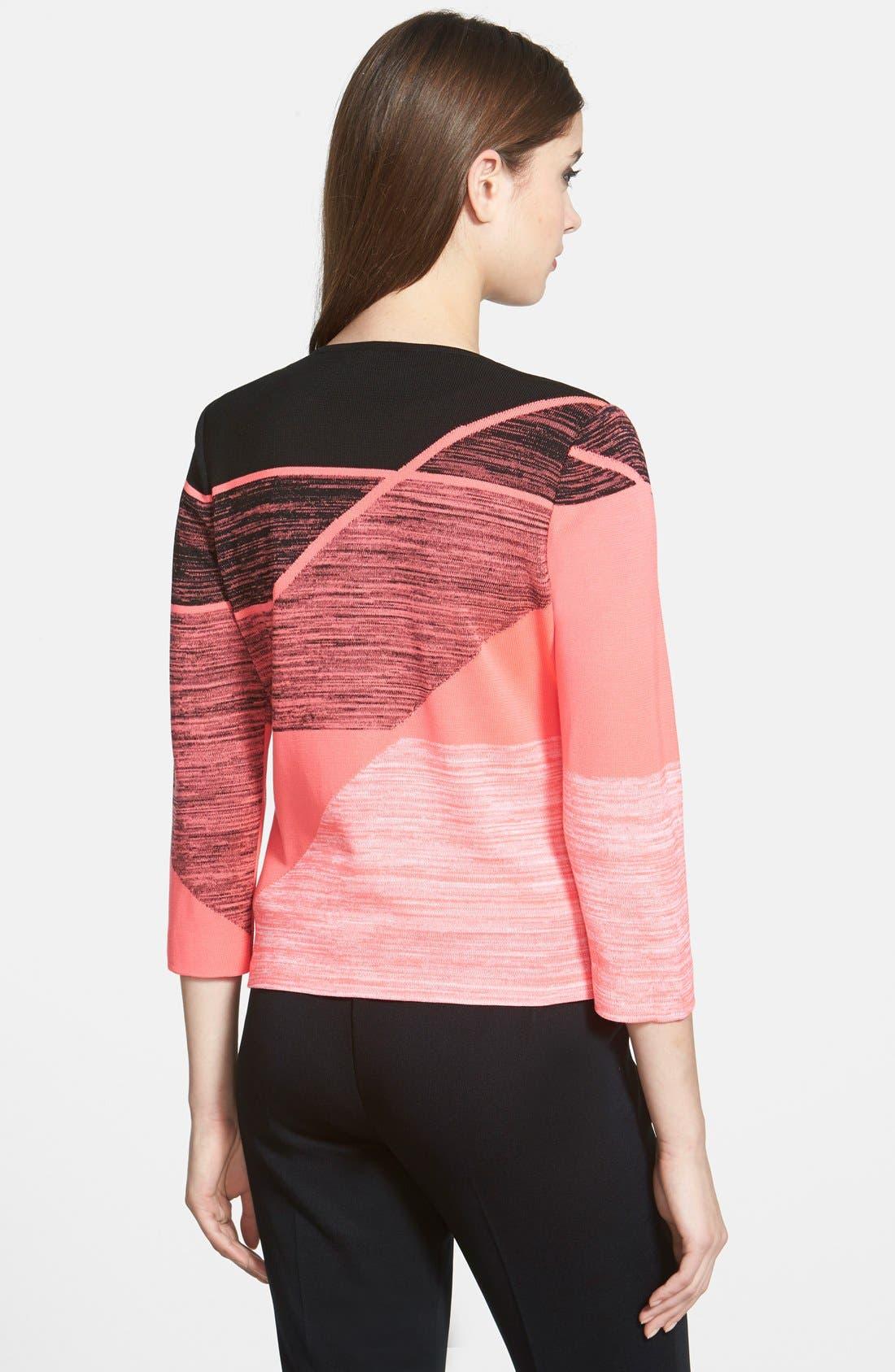 Alternate Image 2  - Ming Wang Geometric Collarless Knit Jacket