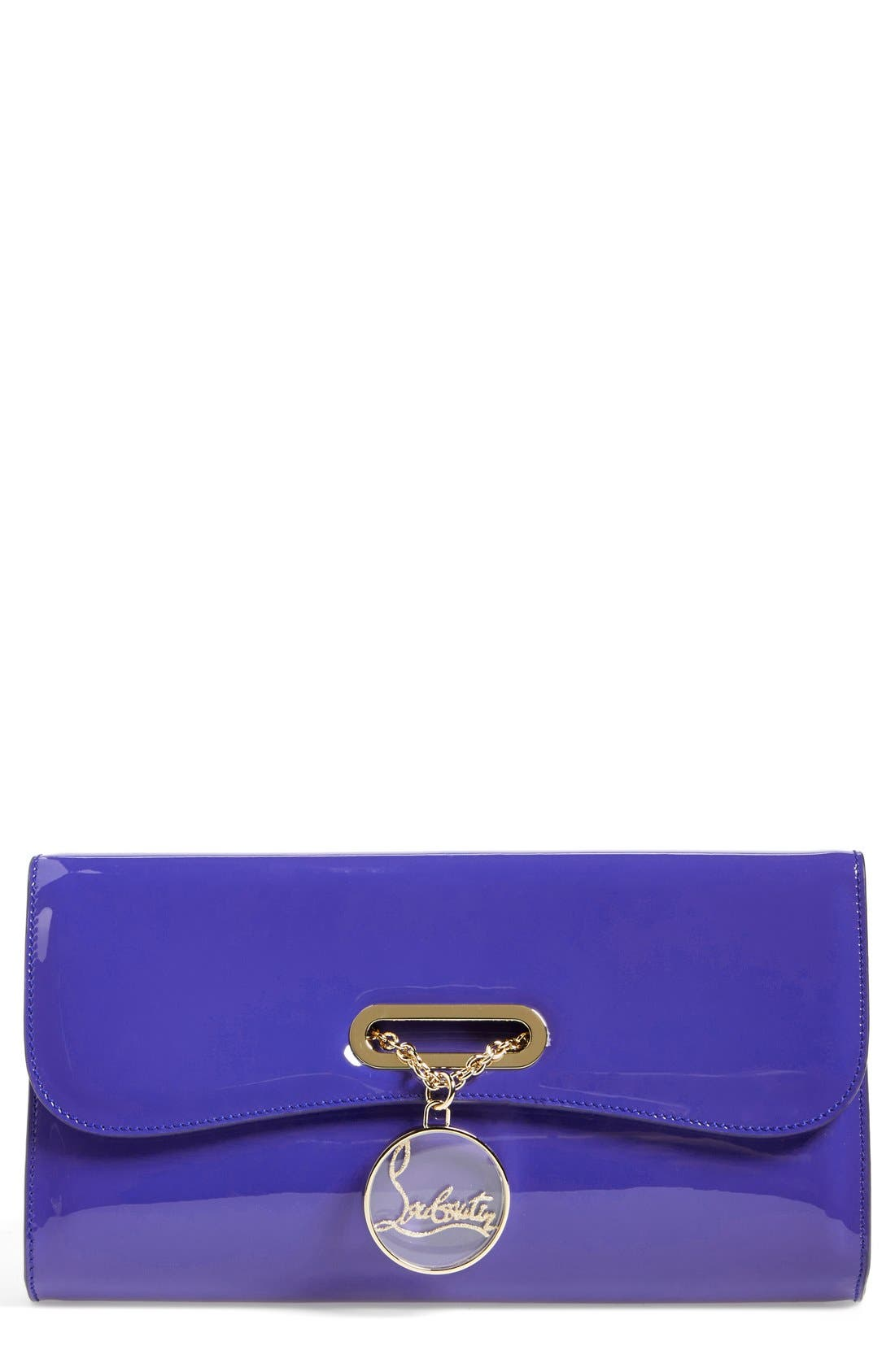 Alternate Image 1 Selected - Christian Louboutin 'Riviera' Patent Leather Clutch