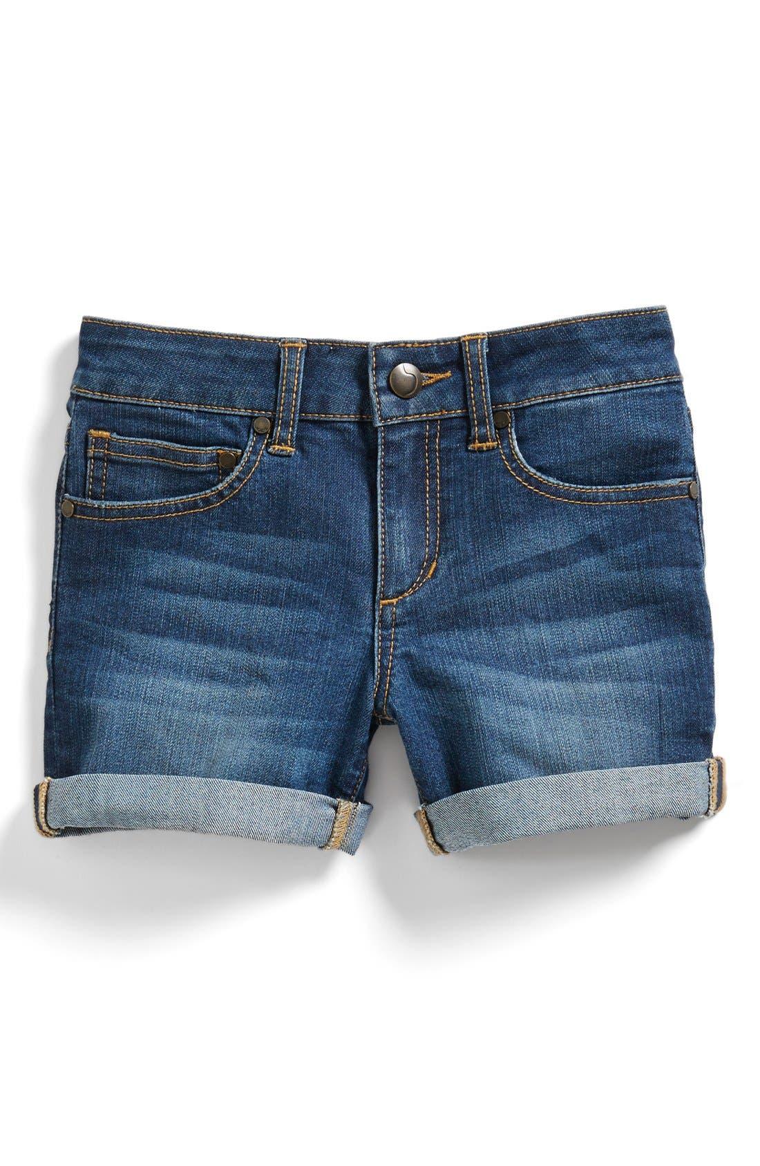 Alternate Image 1 Selected - Joe's Classic Cuff Denim Shorts (Big Girls)