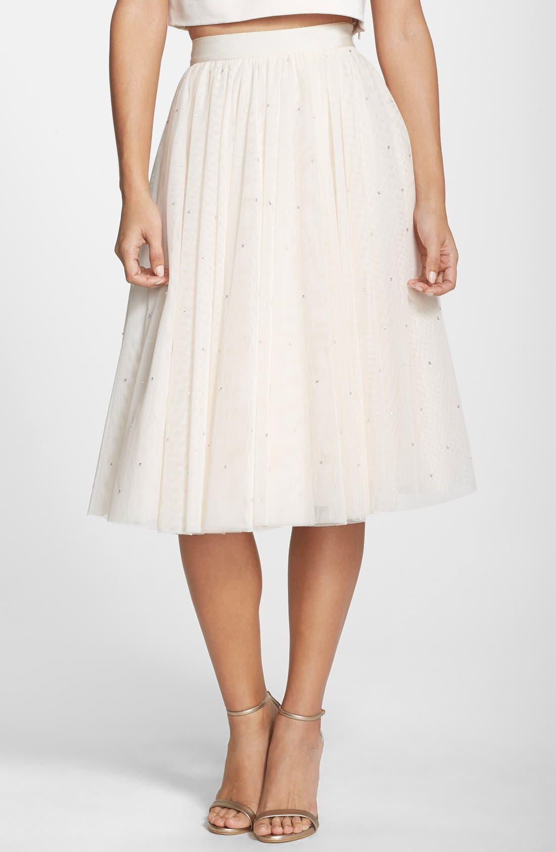 Alternate Image 1 Selected - Ted Baker London 'Odella' Embellished Tulle Skirt