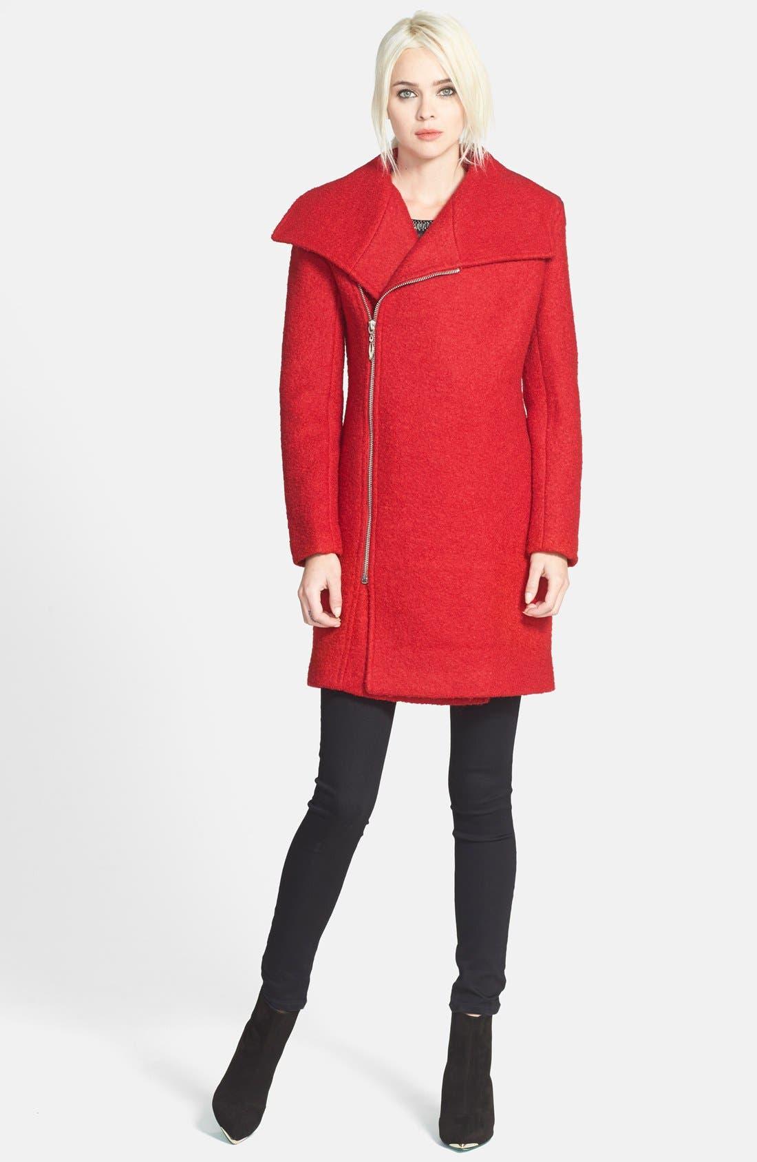 Alternate Image 4  - Glamorous Asymmetrical Zip Coat