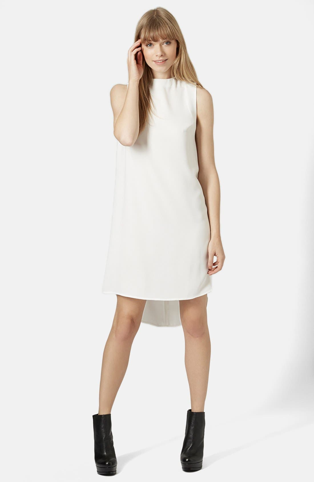 Main Image - Topshop Mock Neck Tunic Dress