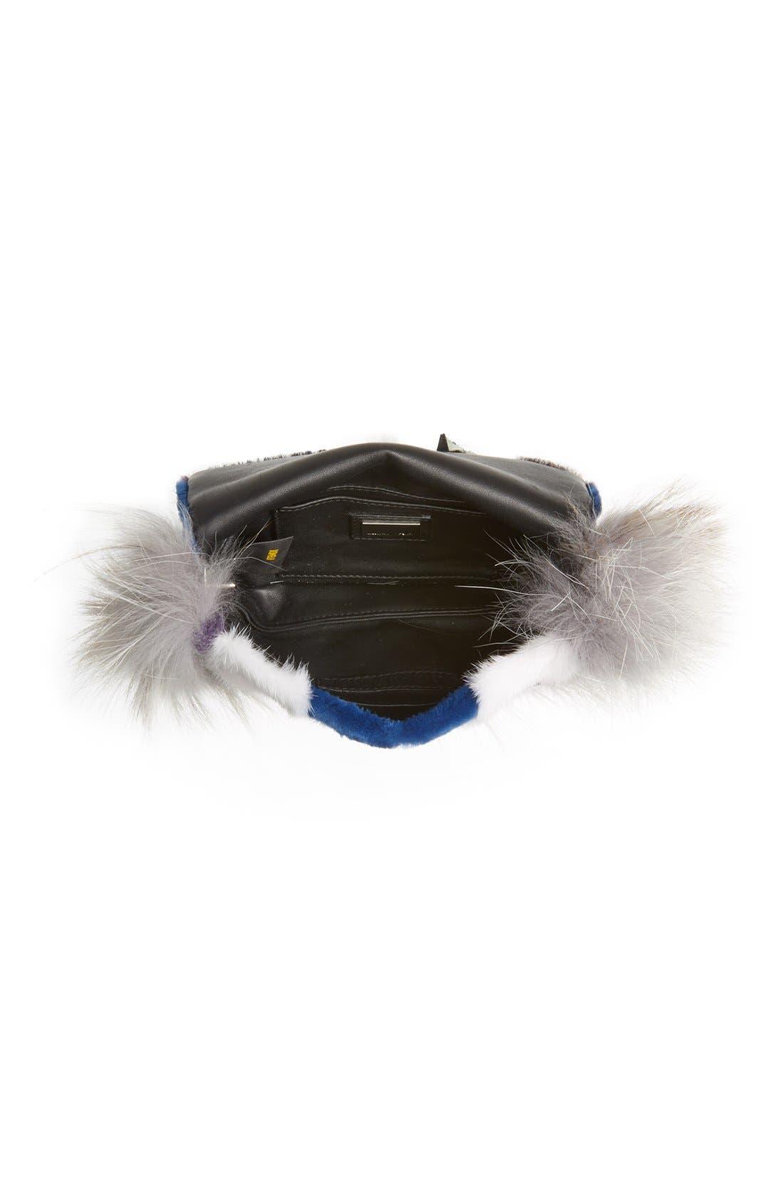 Alternate Image 3  - Fendi 'Monster' Genuine Mink & Genuine Fox Fur Mini Baguette