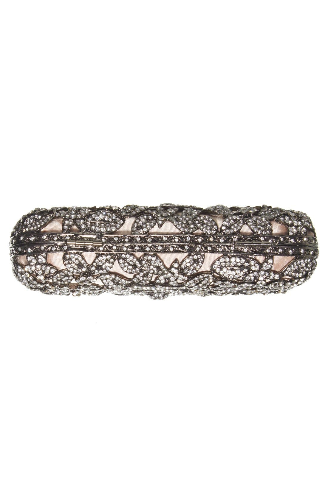 Alternate Image 6  - Natasha Couture Crystal Caged Floral Clutch
