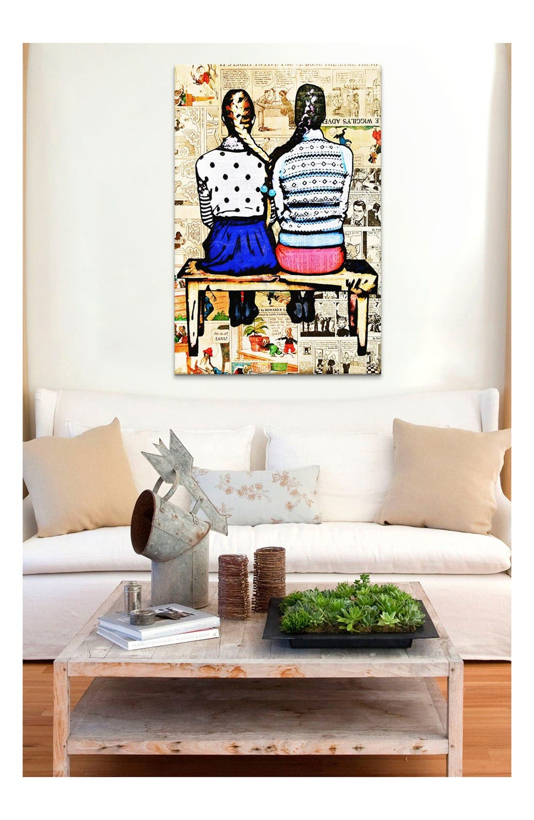 Alternate Image 2  - iCanvas 'See You in the Funny Papers - Annie Terrazzo' Giclée Print Canvas Art