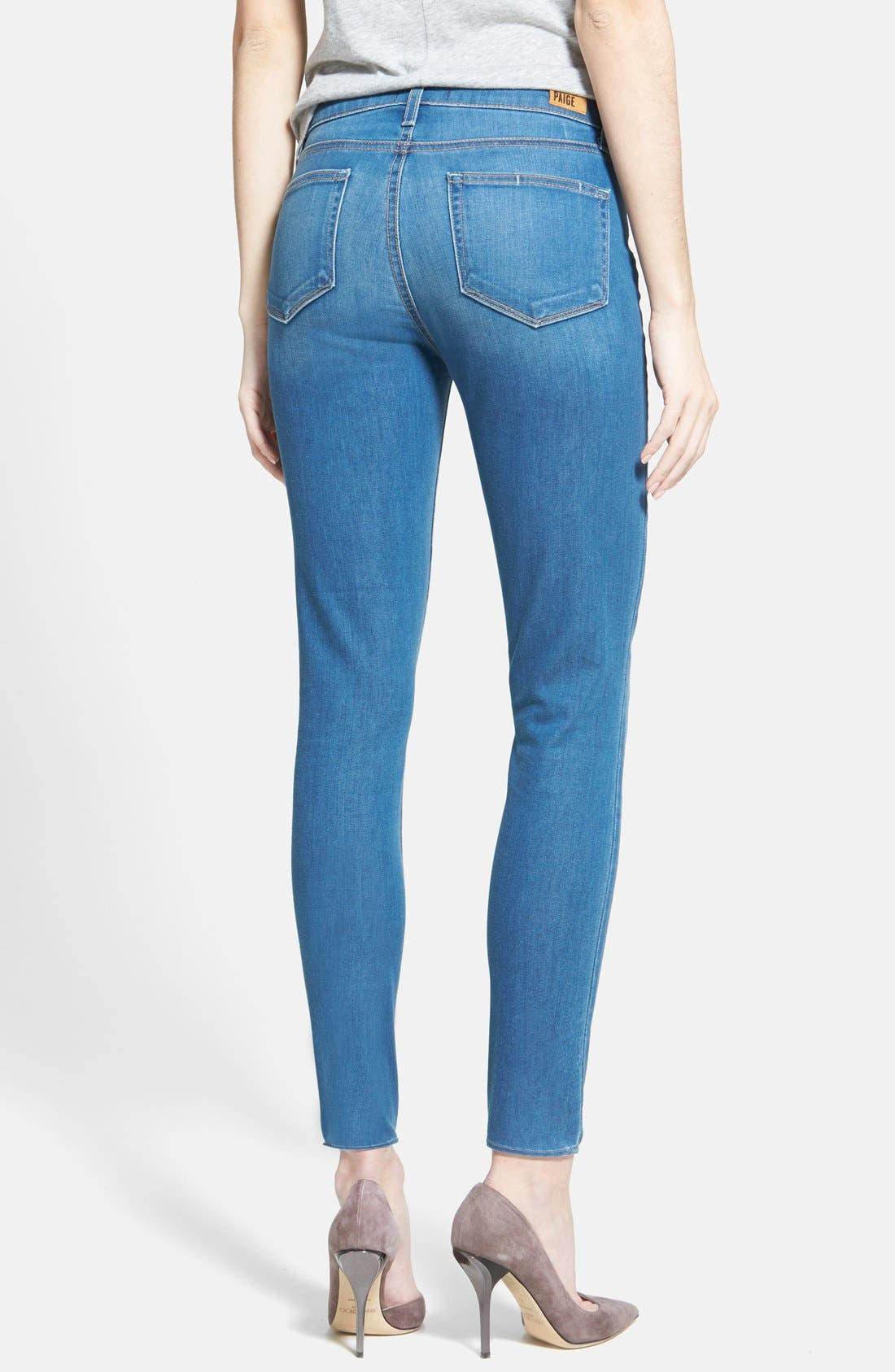 Alternate Image 2  - Paige Denim 'Hoxton' Skinny Ankle Jeans (Halstead Blue)
