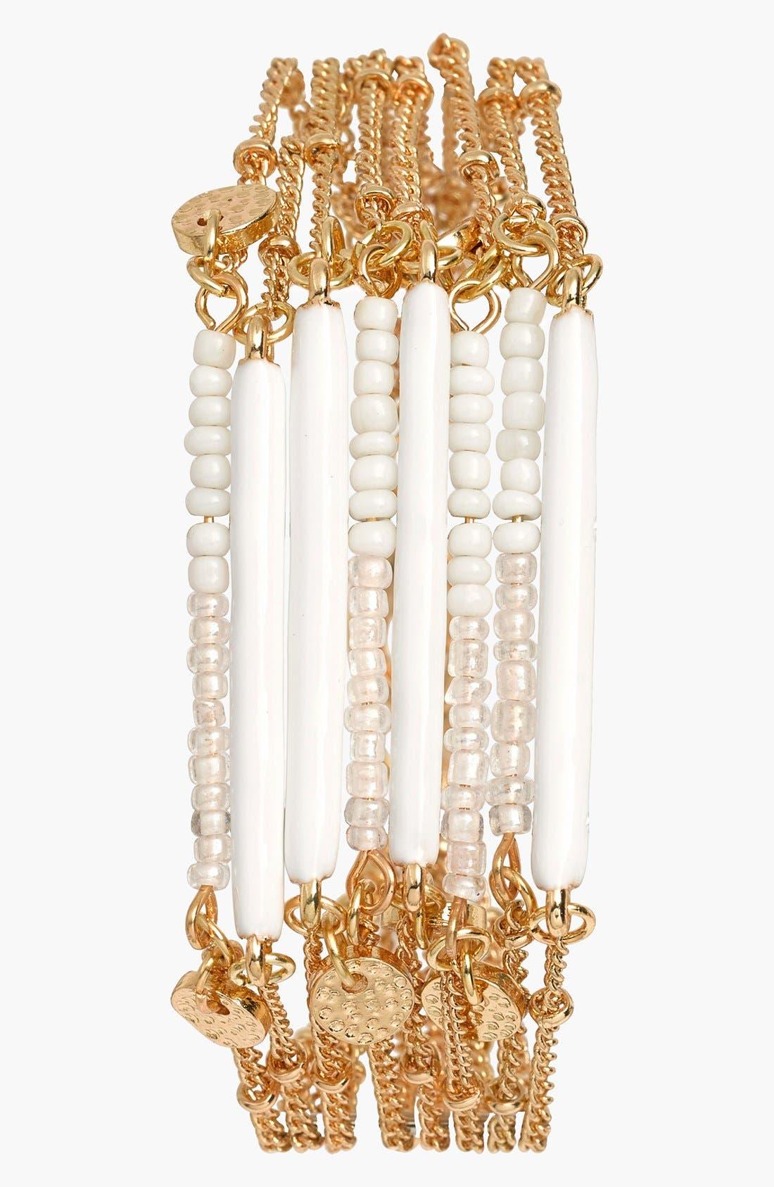 Main Image - Sequin Beaded Multistrand Bracelet