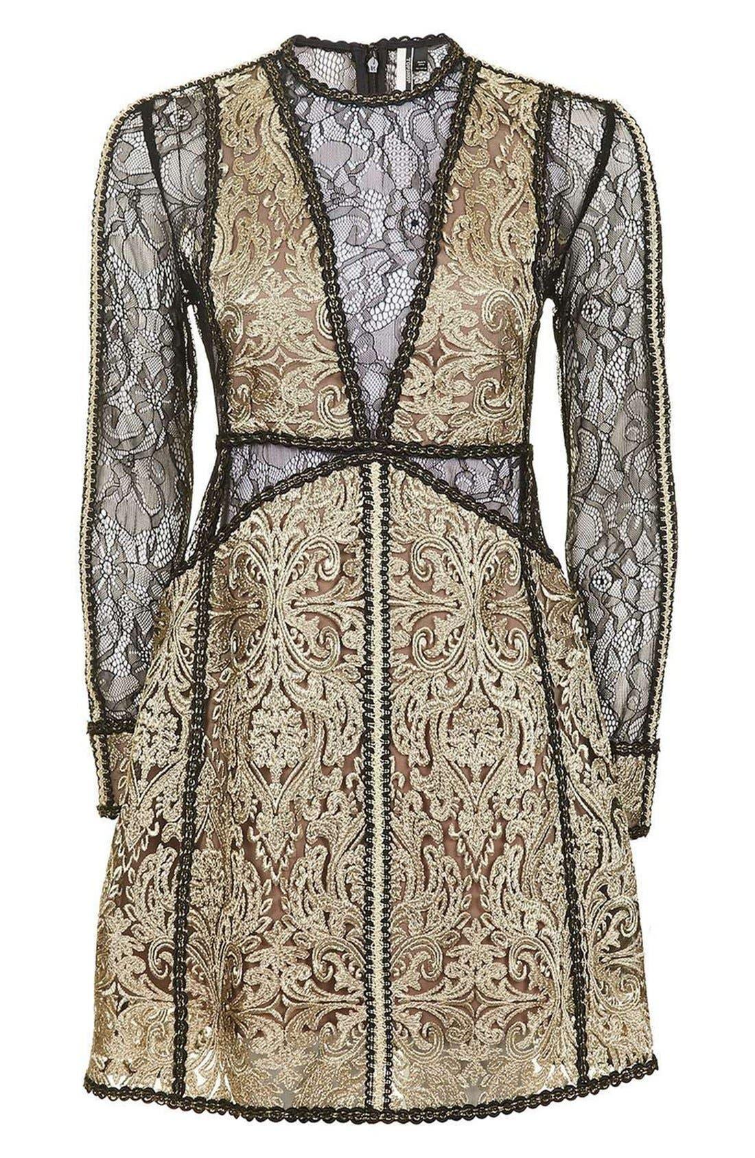 Alternate Image 4  - Topshop Lace A-Line Dress