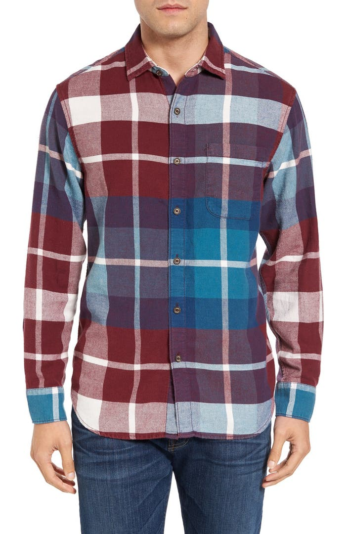 Tommy bahama acai original fit flannel shirt big tall for Large tall flannel shirts