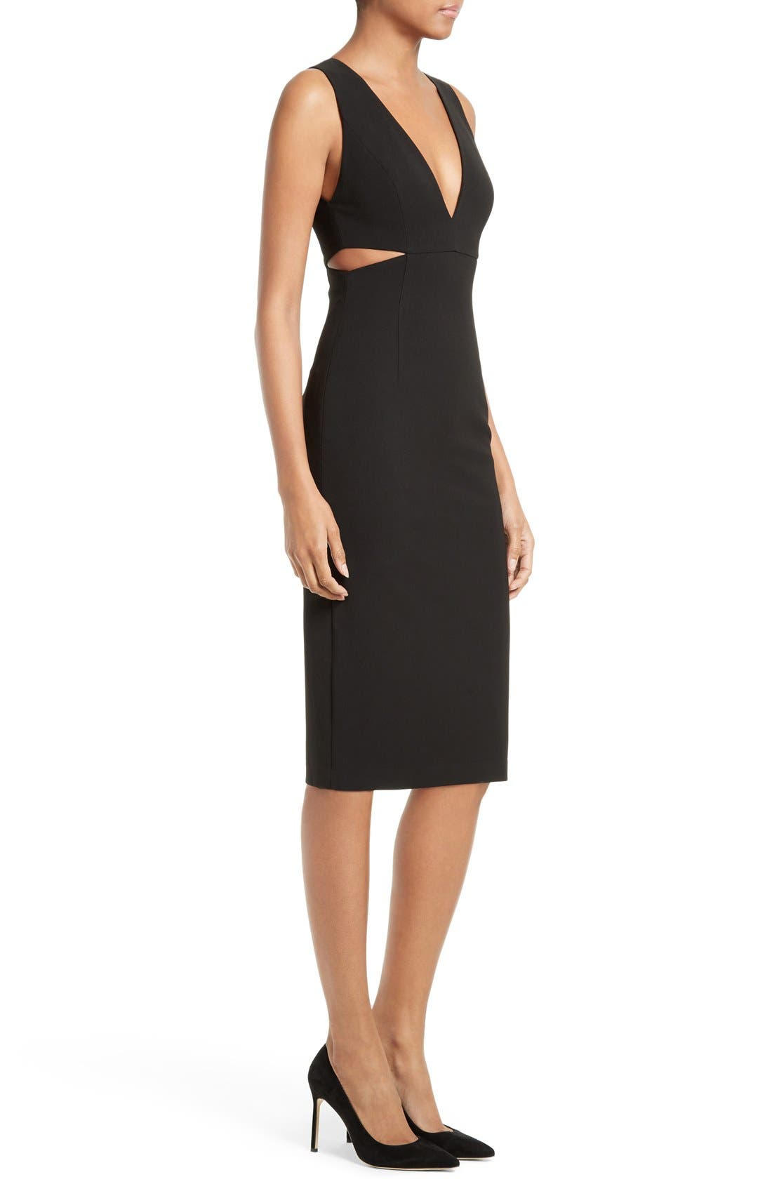 Alternate Image 3  - Alice + Olivia Riki Cutout Sheath Dress