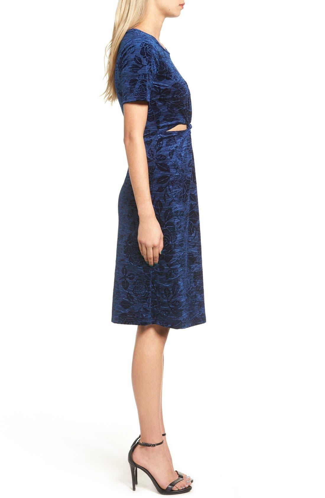 Alternate Image 3  - Everly Floral Velvet Cutout Dress