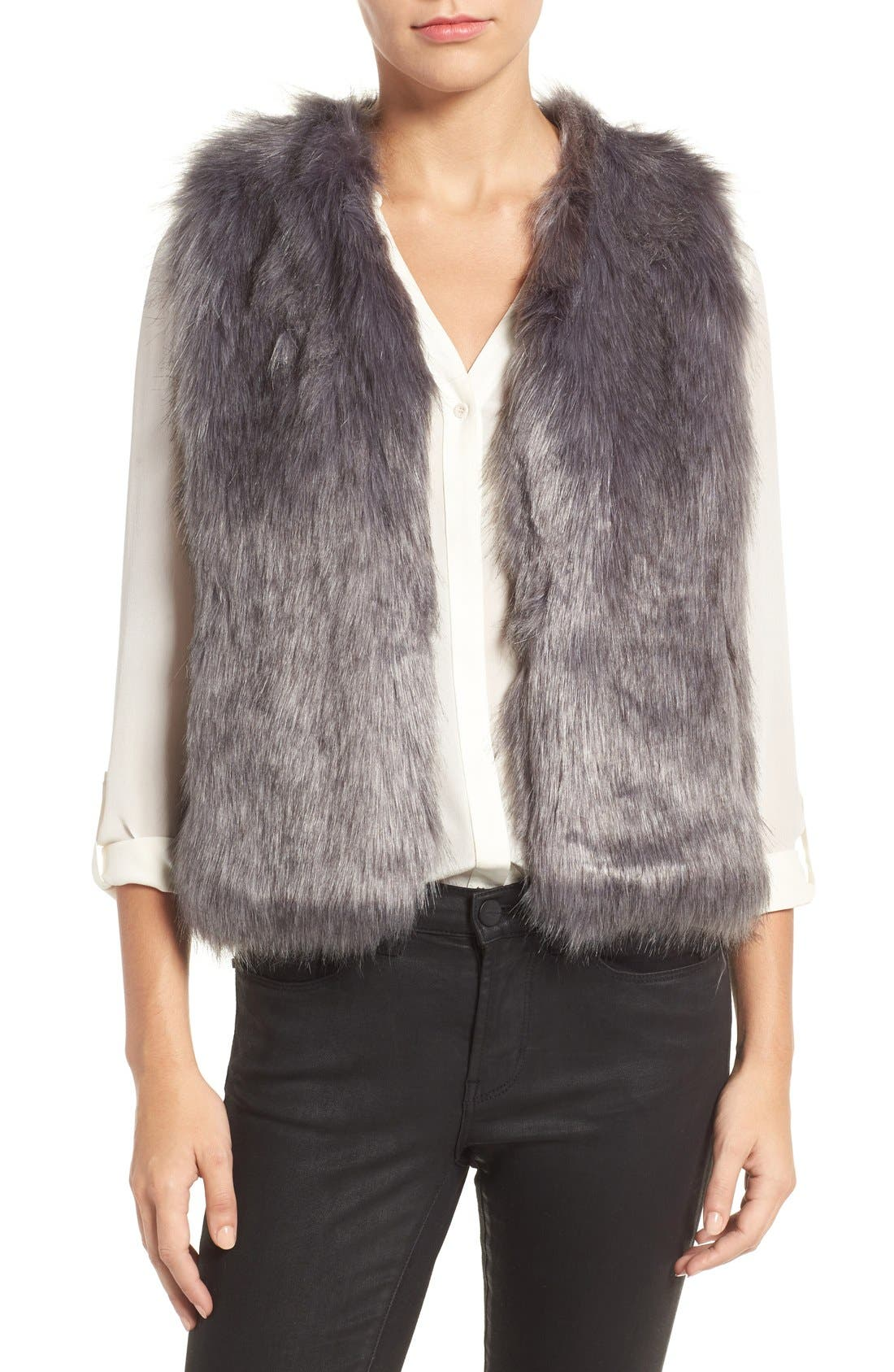 Alternate Image 1 Selected - Sole Society Faux Fur Vest