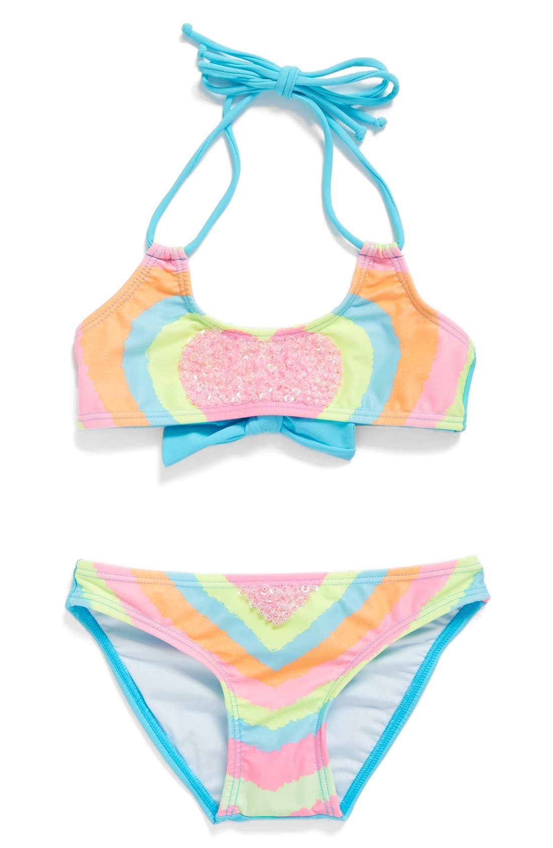PILYQ Sequin Embellished Two-Piece Swimsuit