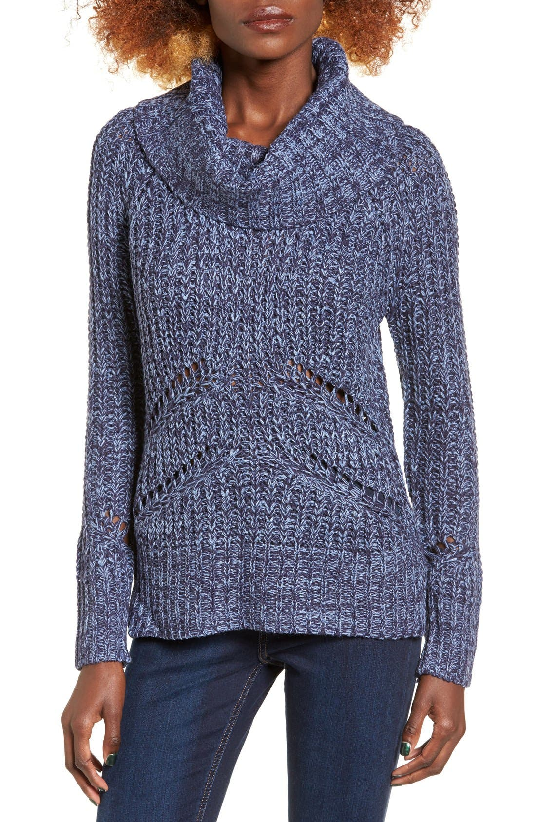 Main Image - Love by Design Marled Cowl Neck Pullover