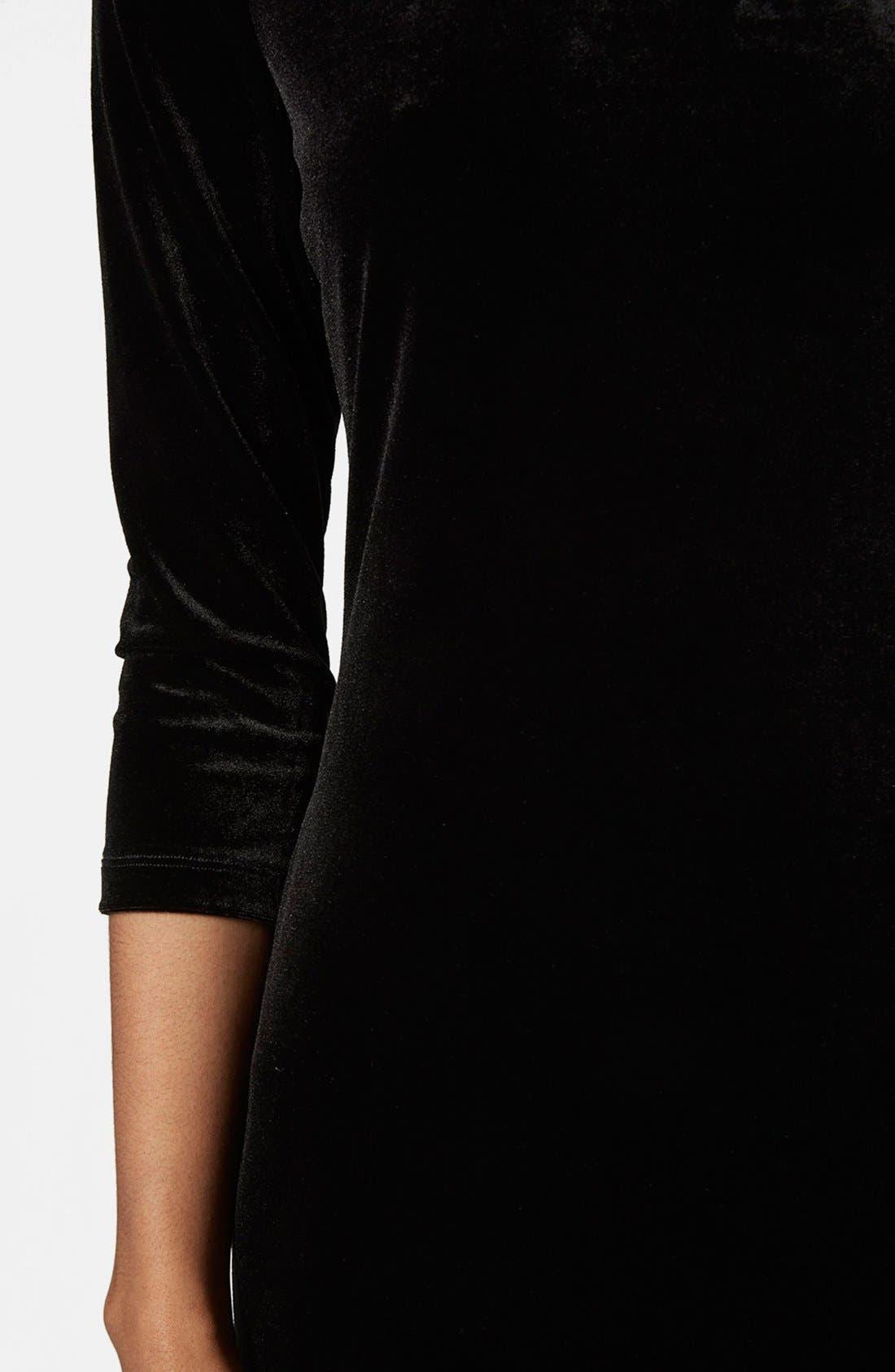 Alternate Image 4  - Topshop Velvet Body-Con Dress