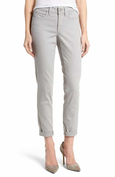 NYDJ Alina Convertible Ankle Jeans (Regular & Petite) - Grey Wash Skinny Jeans For Women Nordstrom