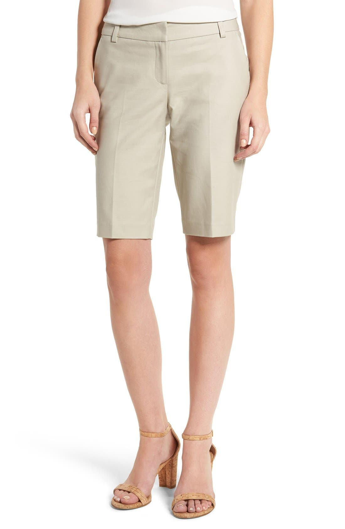 Alternate Image 1 Selected - Halogen® Stretch Bermuda Shorts (Regular & Petite)