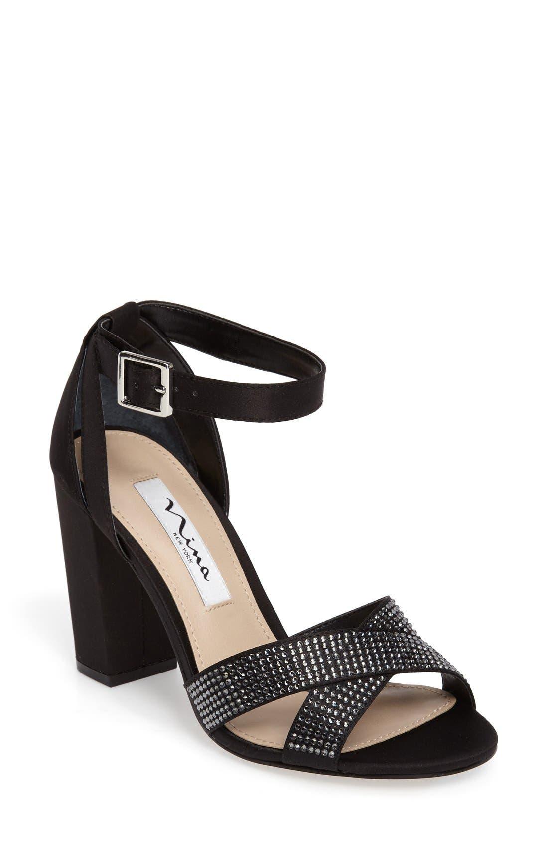 NINA Shelley Crisscross Ankle Strap Sandal