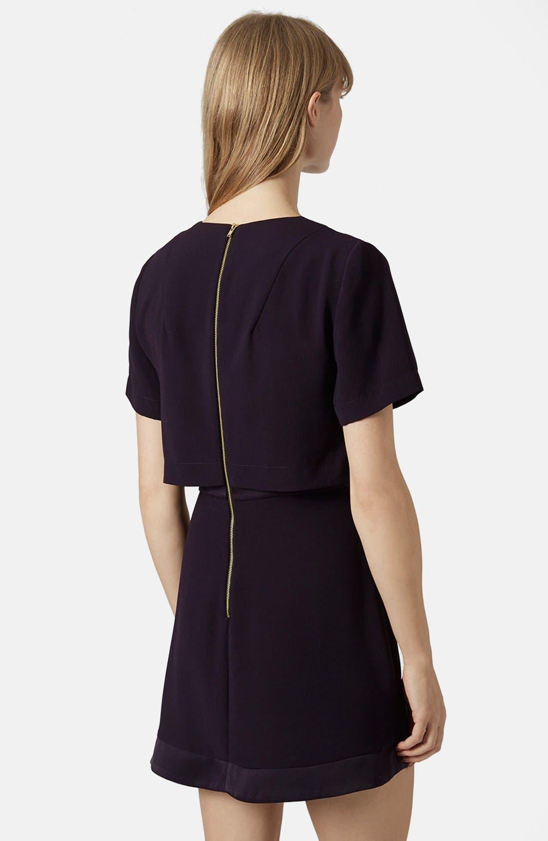 Alternate Image 2  - Topshop Satin Trim Overlay Dress