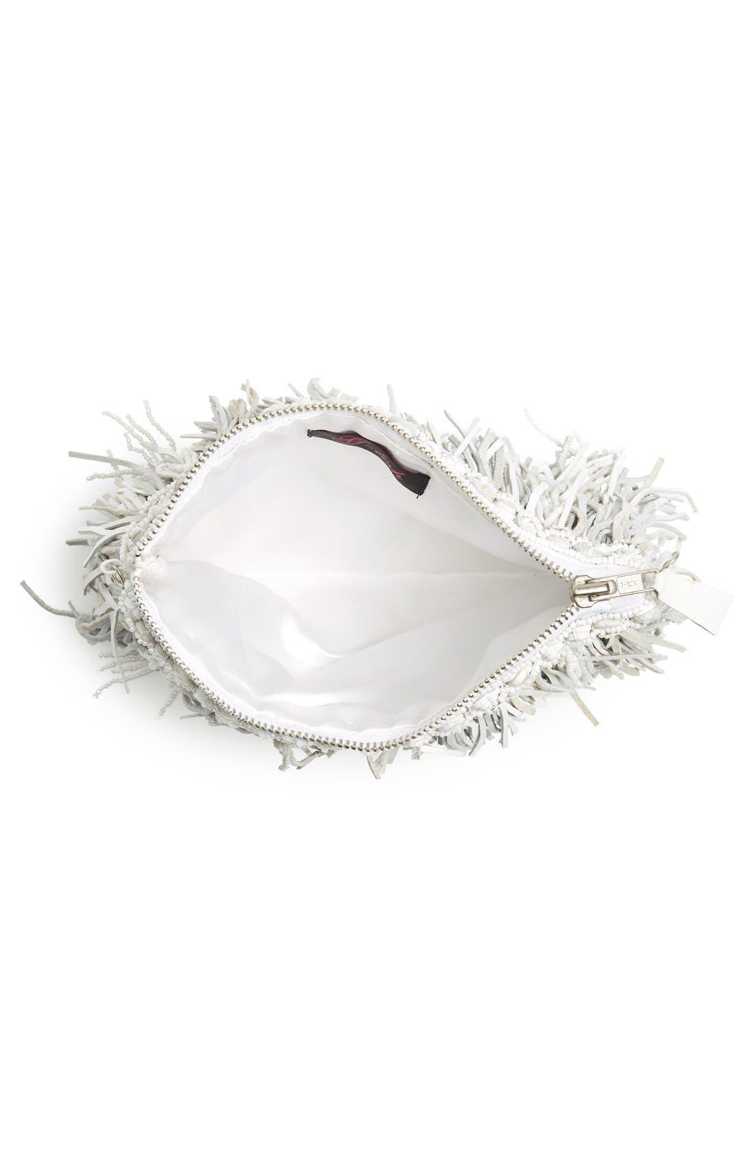 Alternate Image 4  - G-lish Bead & Leather Fringe Crossbody Bag