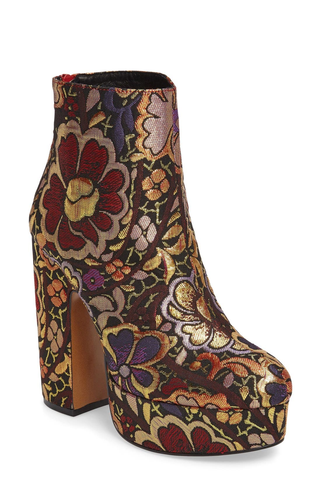 Alternate Image 1 Selected - Shellys London Chanah Embroidered Platform Bootie (Women)