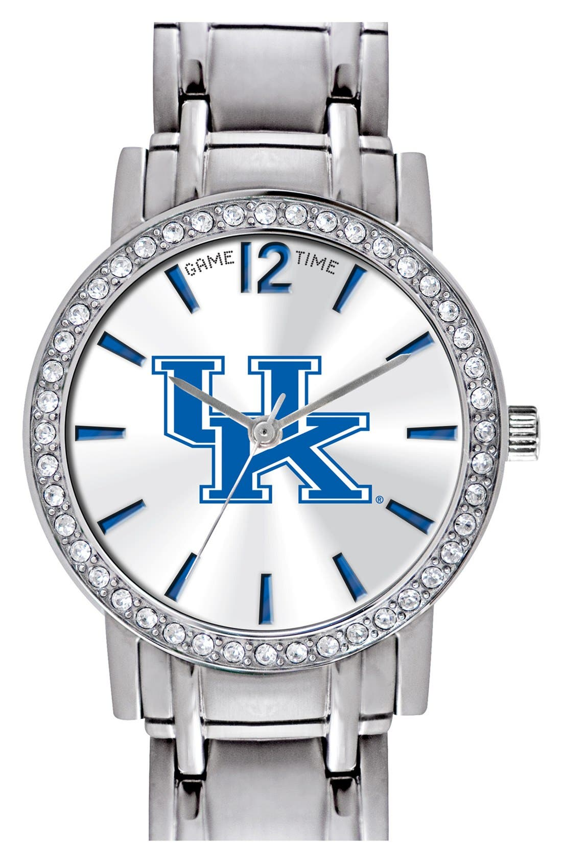 Alternate Image 1 Selected - Game Time Watches 'College All Star - University of Kentucky' Crystal Bezel Bracelet Watch, 32mm