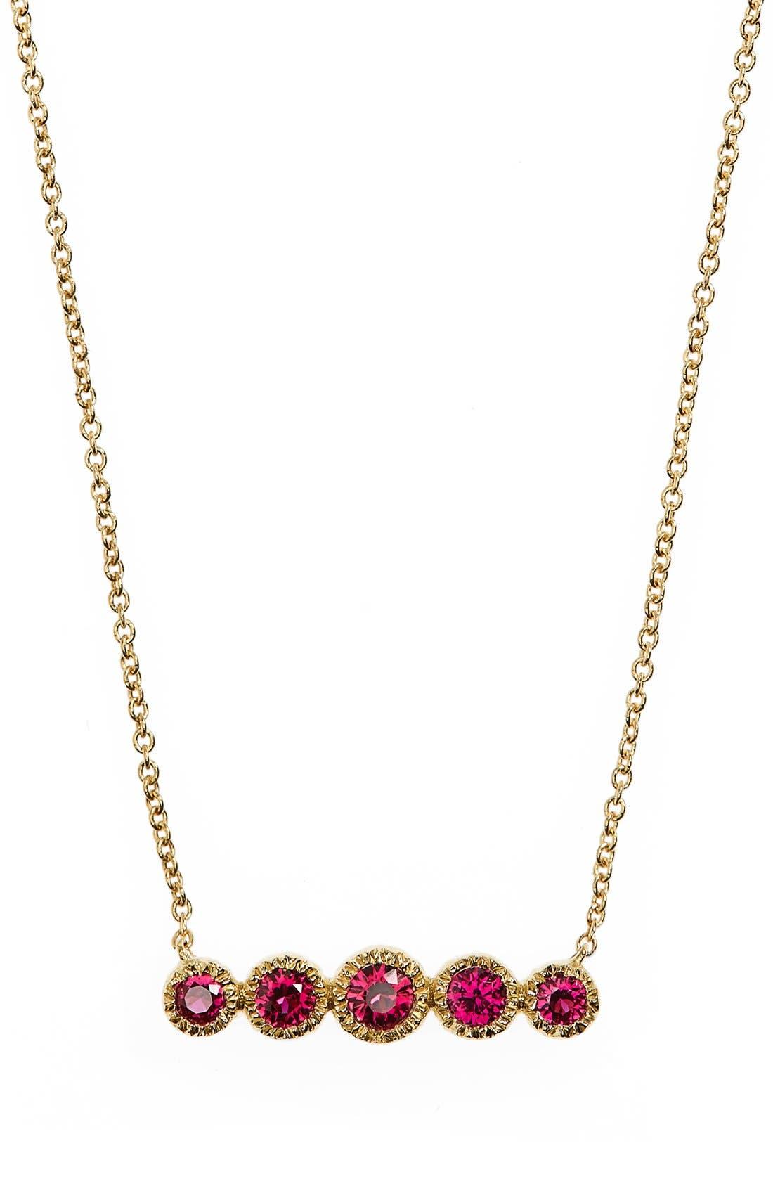 BONY LEVY Gemstone Pendant Necklace