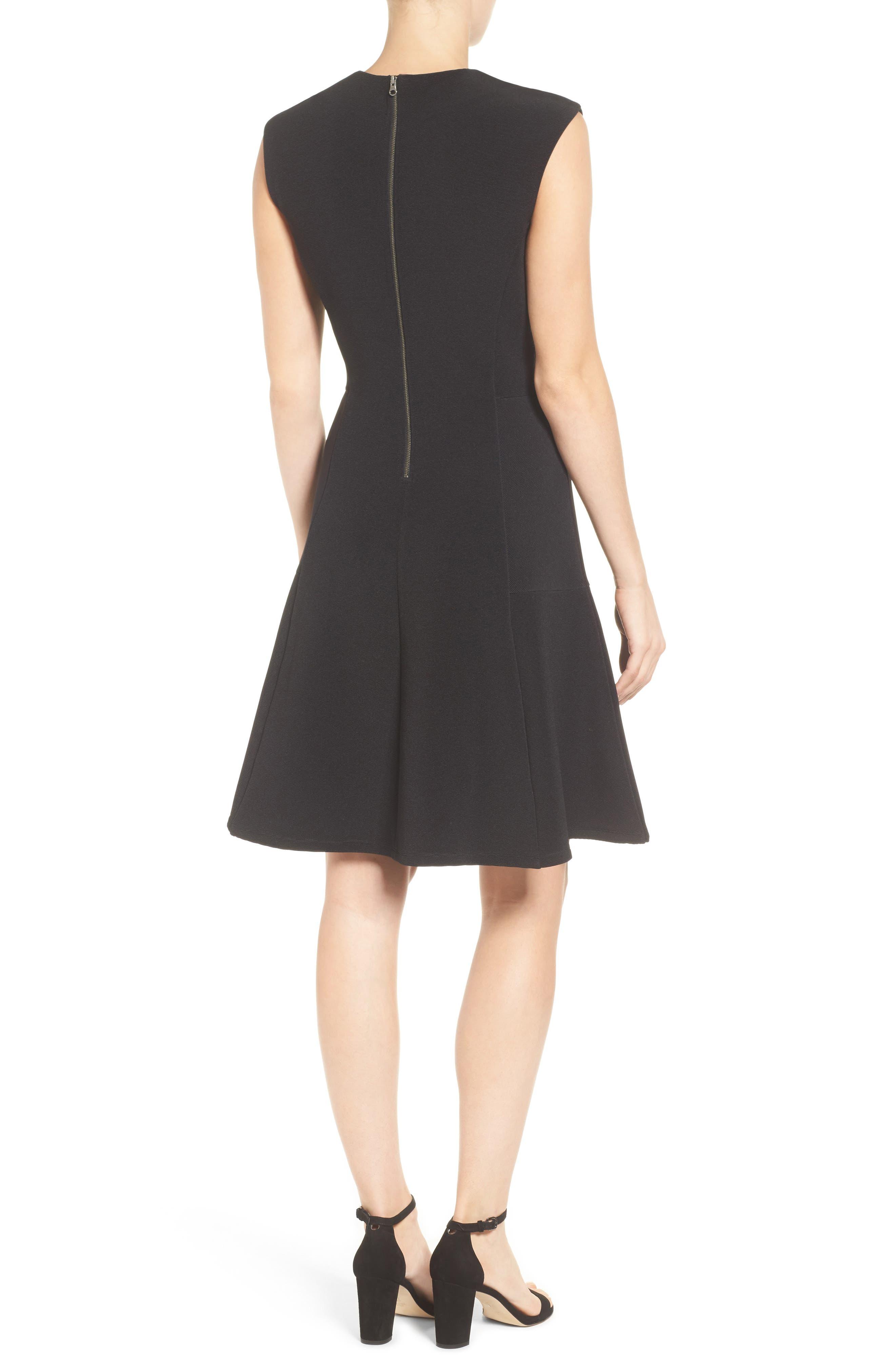 Alternate Image 2  - Halogen® Ottoman Knit Fit & Flare Dress (Regular & Petite)