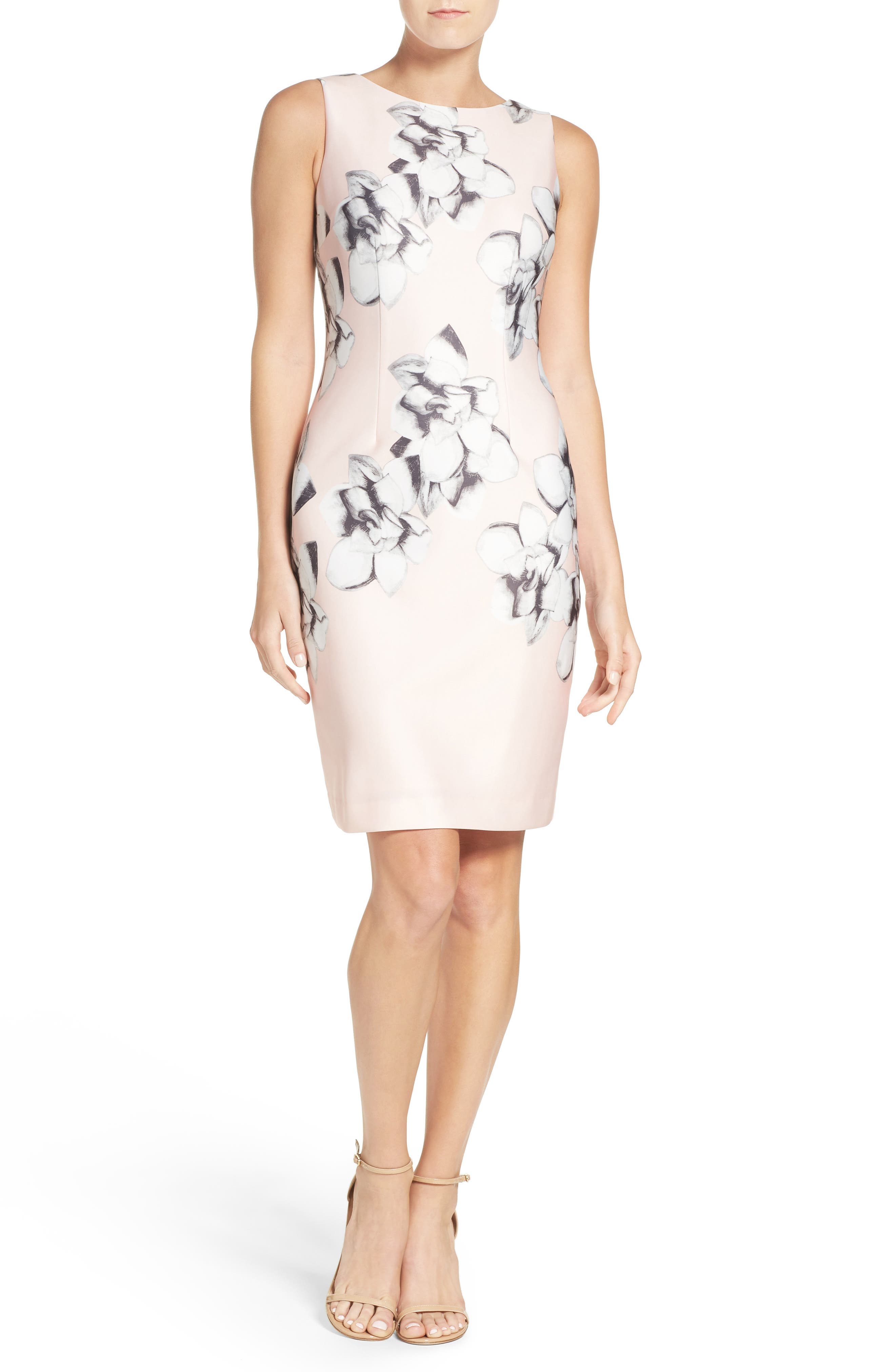 Alternate Image 4  - Chetta B Scuba Sheath Dress