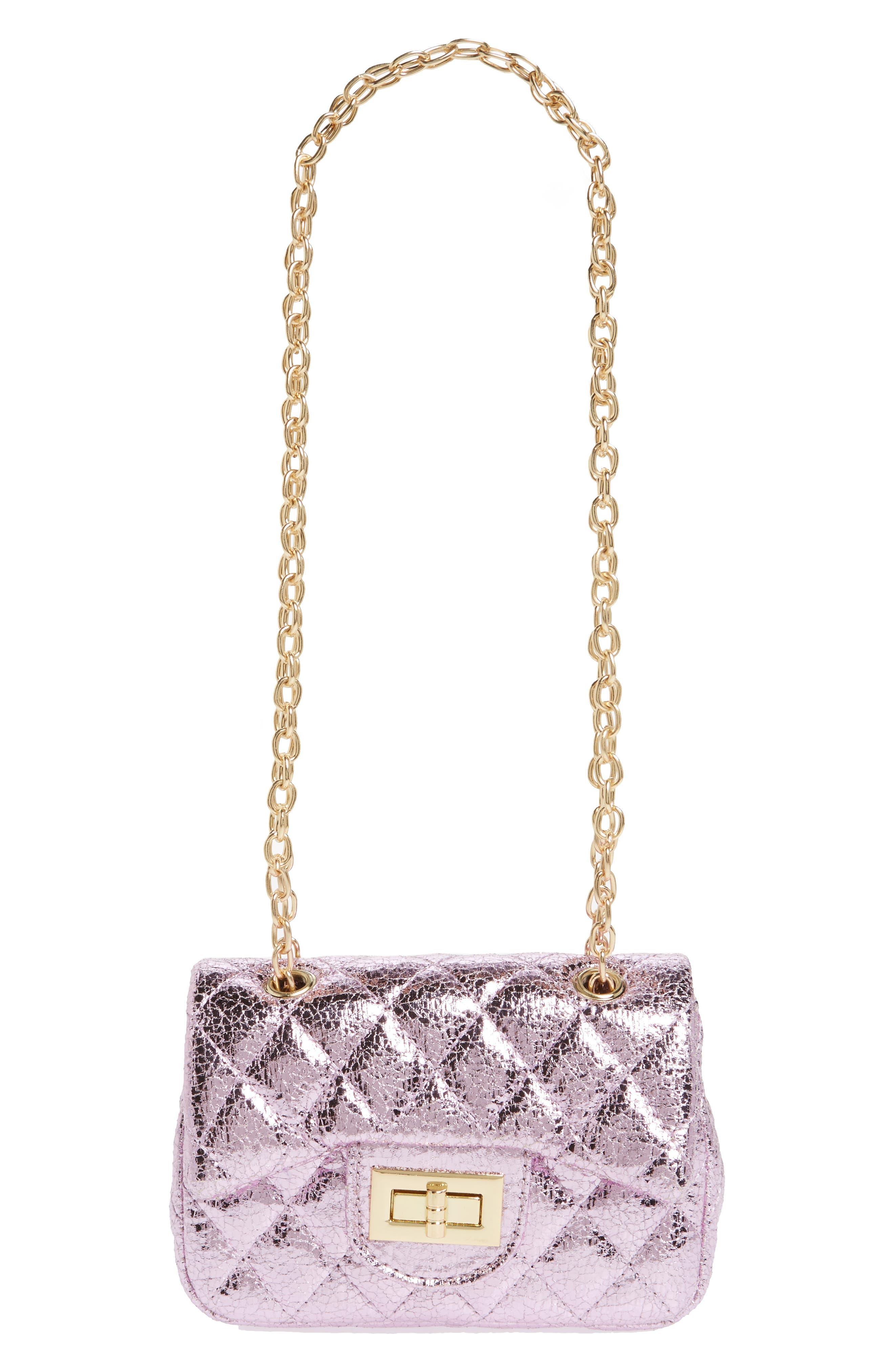 Alternate Image 1 Selected - Popatu Quilted Crossbody Bag (Girls)