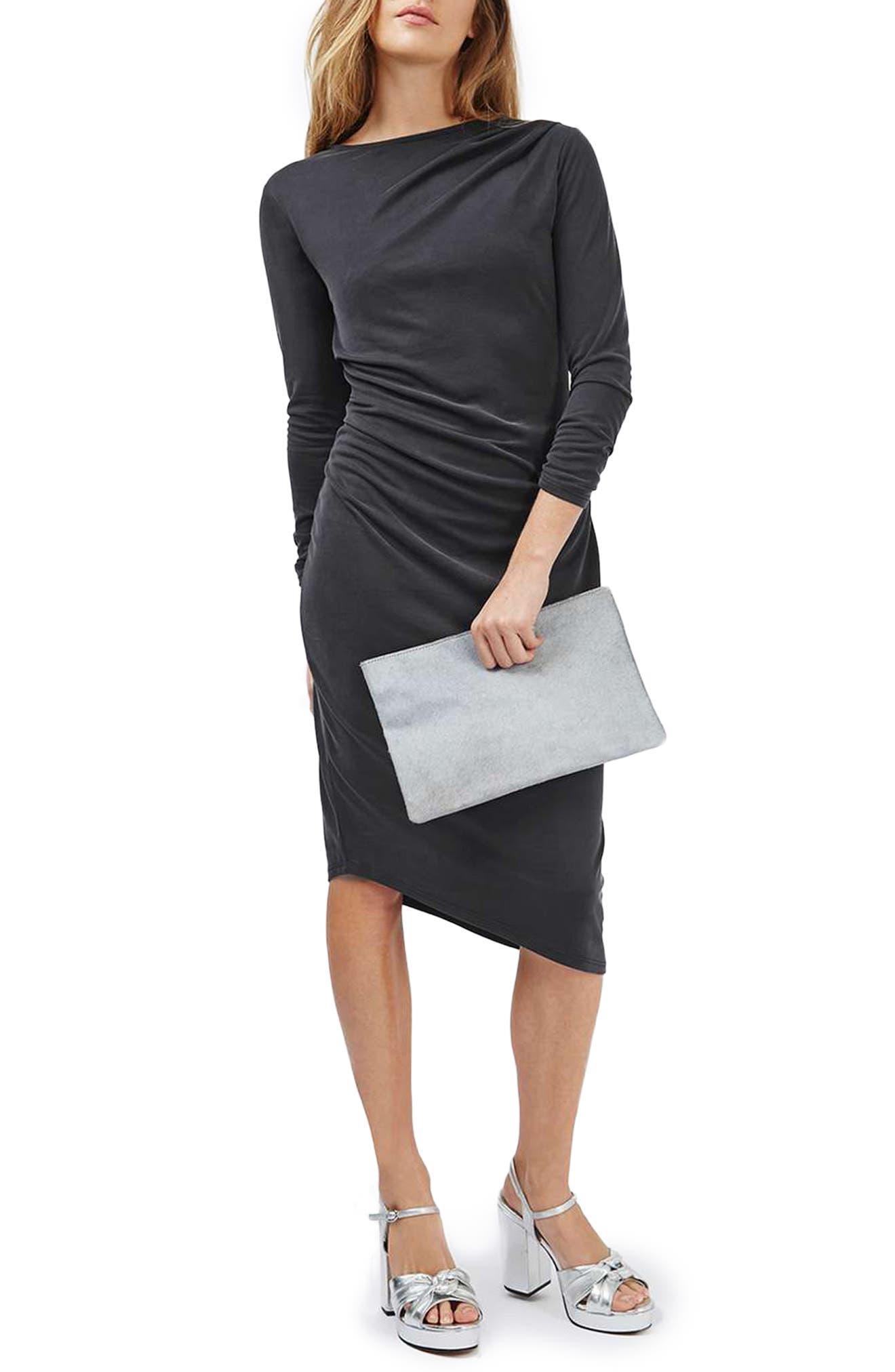 Alternate Image 1 Selected - Topshop Drape Midi Dress
