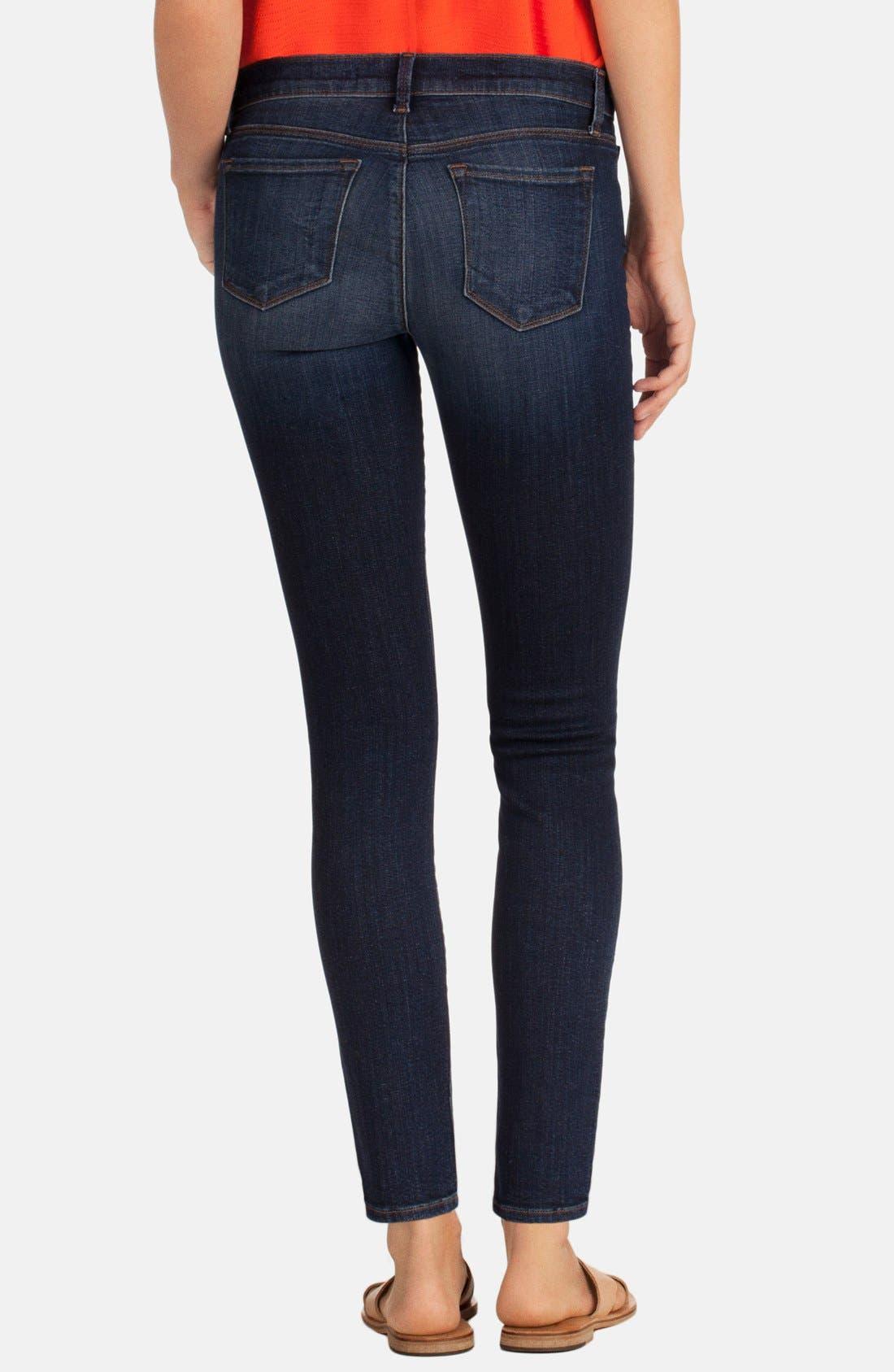 Alternate Image 2  - J Brand Mid-Rise Skinny Jeans (Oblivion)