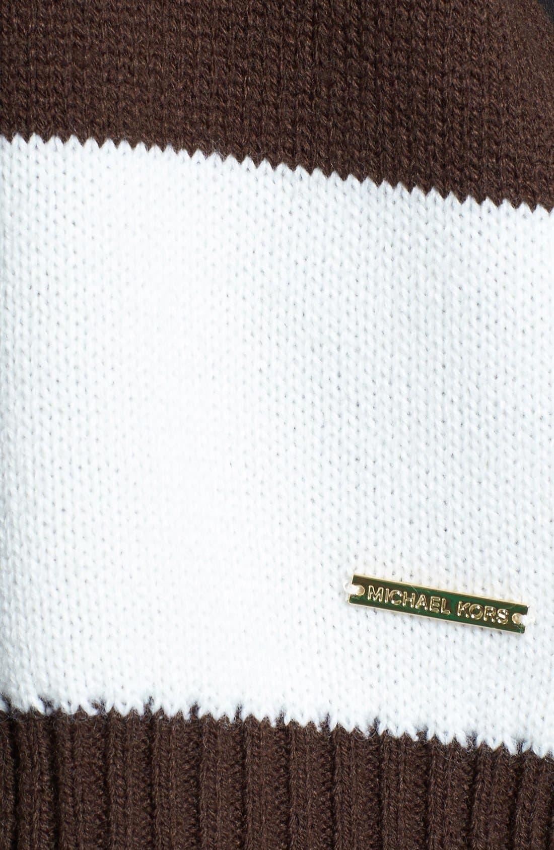 Alternate Image 3  - MICHAEL Michael Kors Reversible Knit Scarf