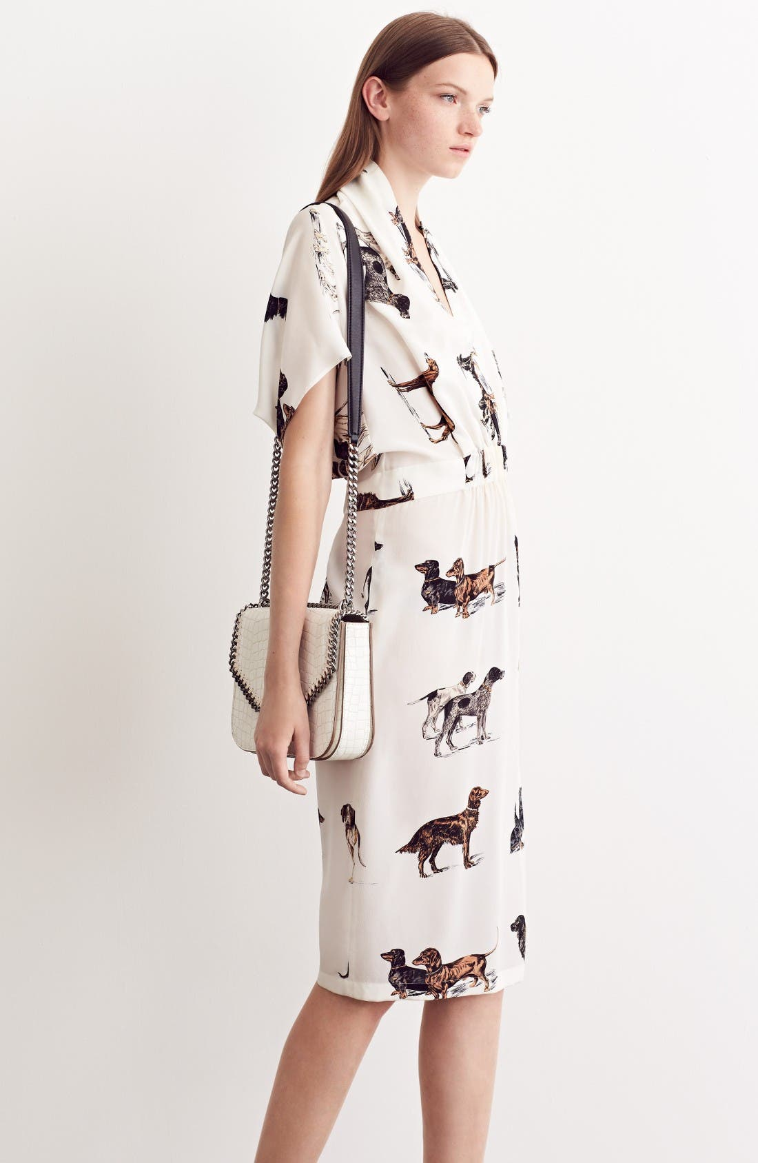 Alternate Image 8  - Stella McCartney Dog Print Silk Dress