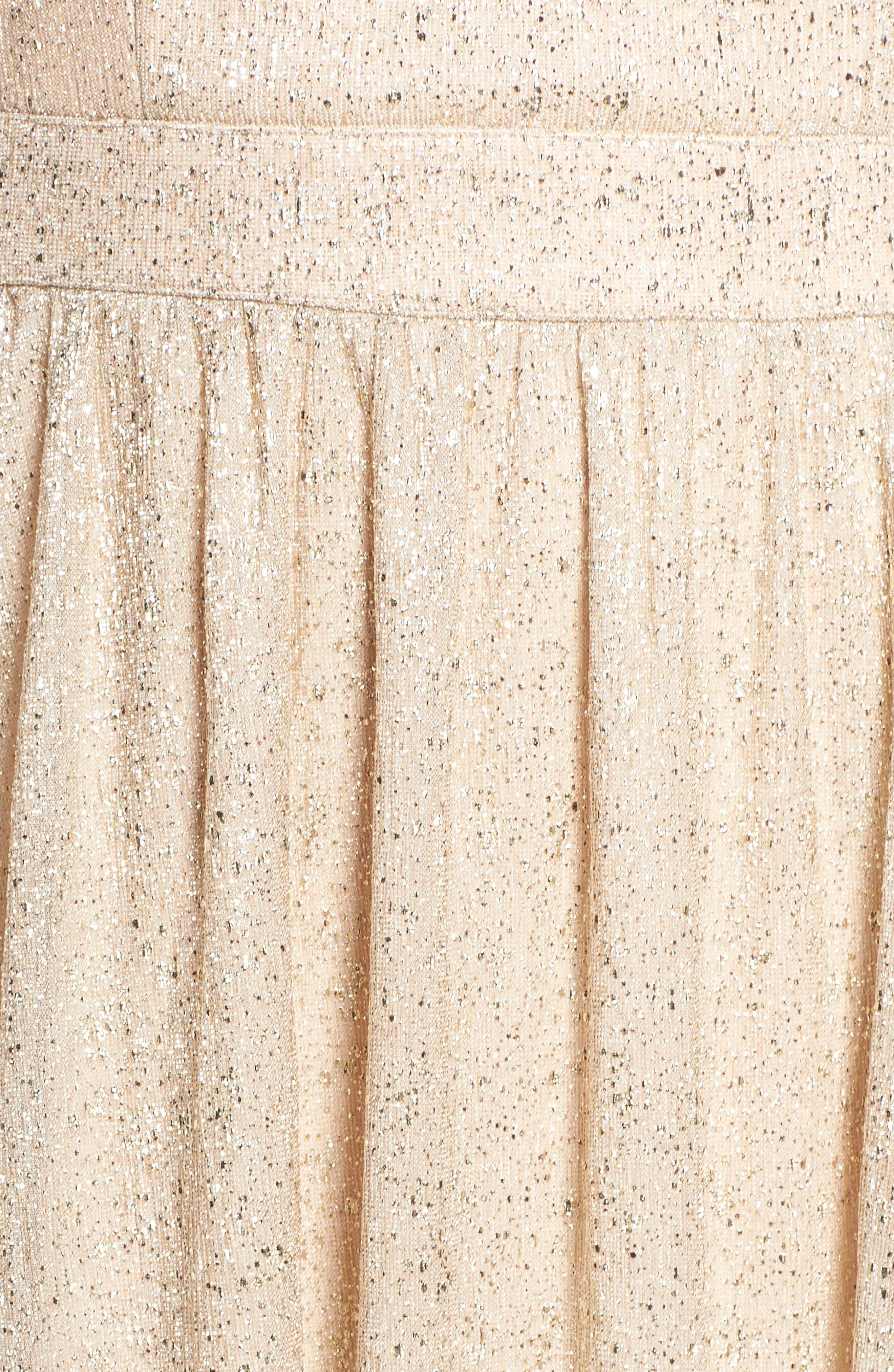 Alternate Image 5  - Lulus High Neck Shimmer Gown
