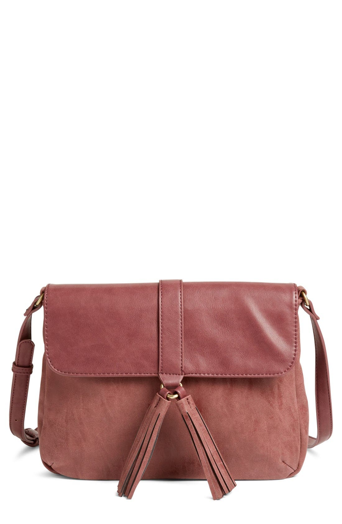 Alternate Image 1 Selected - Emperia Saydie Tassel Faux Leather Crossbody Bag (Special Purchase)