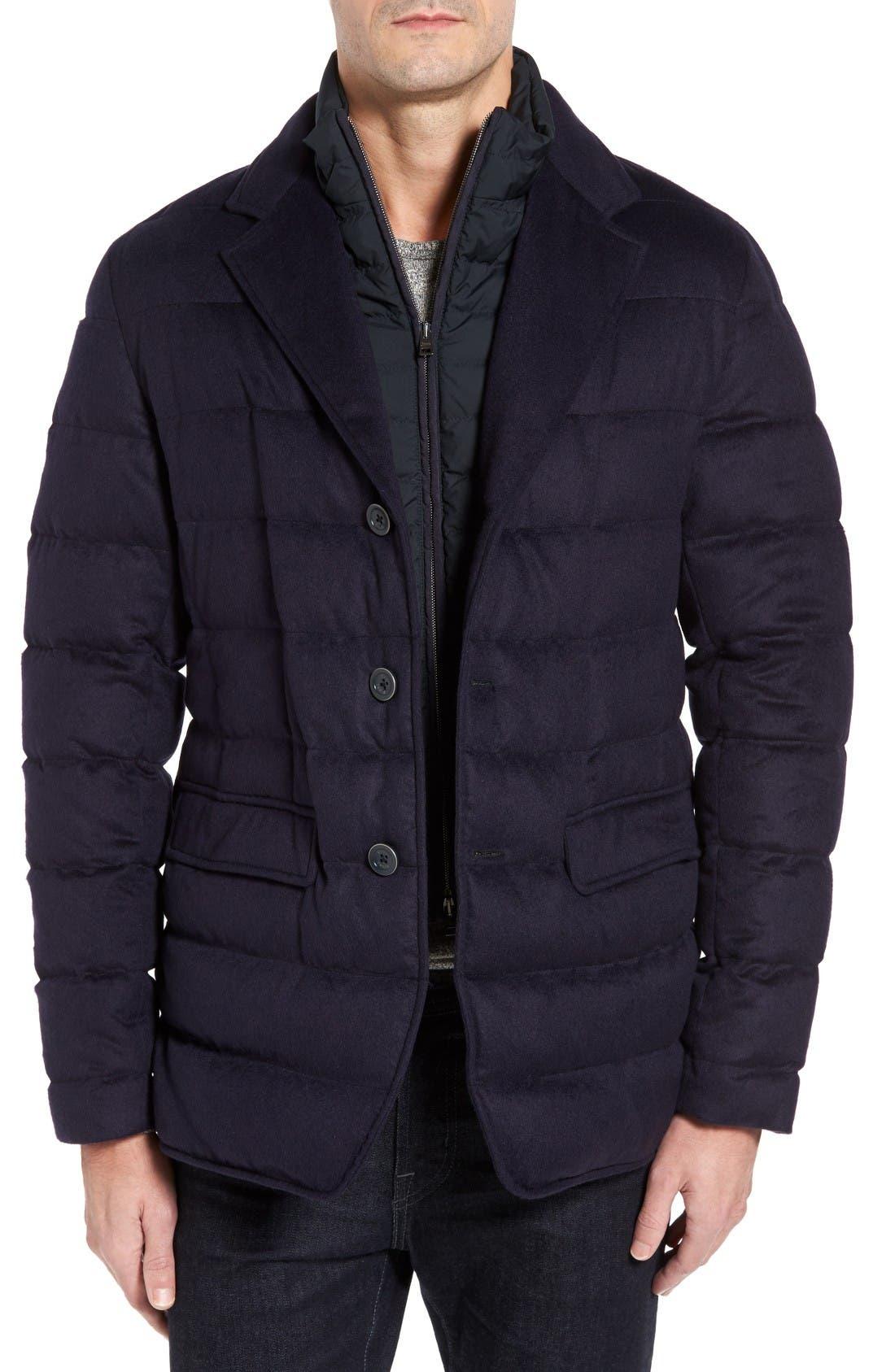 HERNO Silk & Cashmere Quilted Blazer