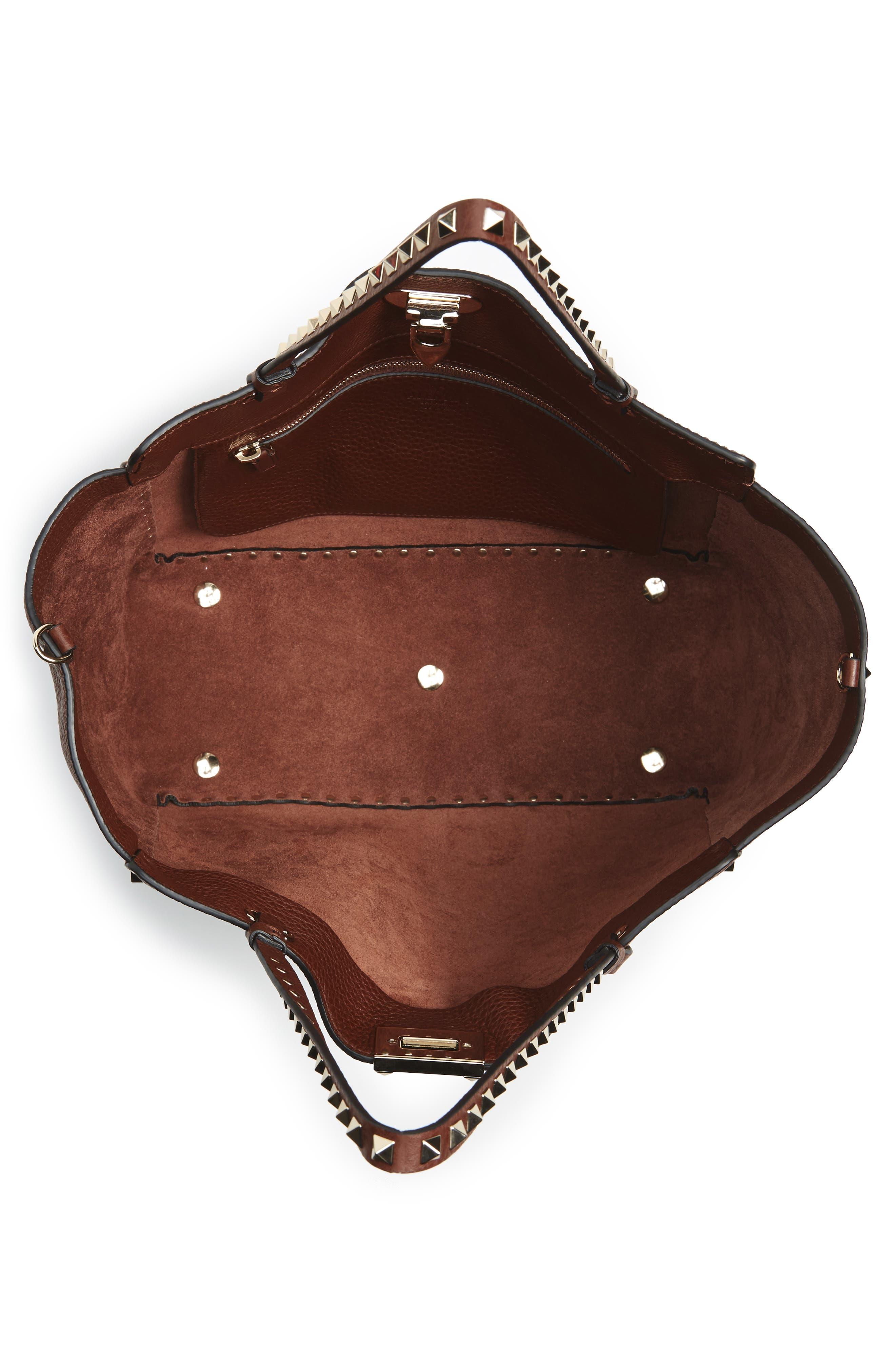 Alternate Image 3  - Valentino 'Rockstud' Grained Calfskin Leather Tote